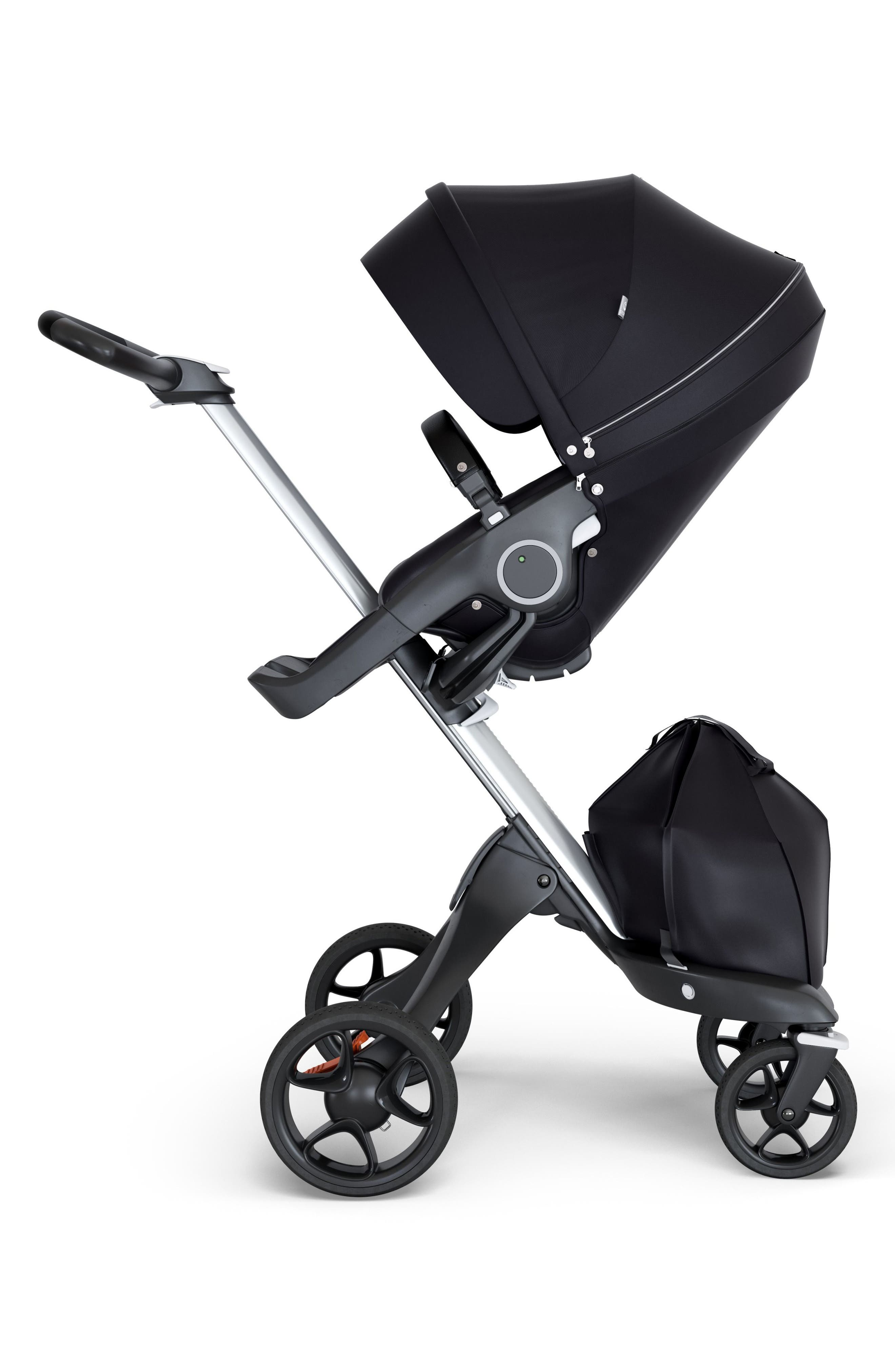 Xplory<sup>®</sup> Silver Chassis Stroller,                         Main,                         color, Black