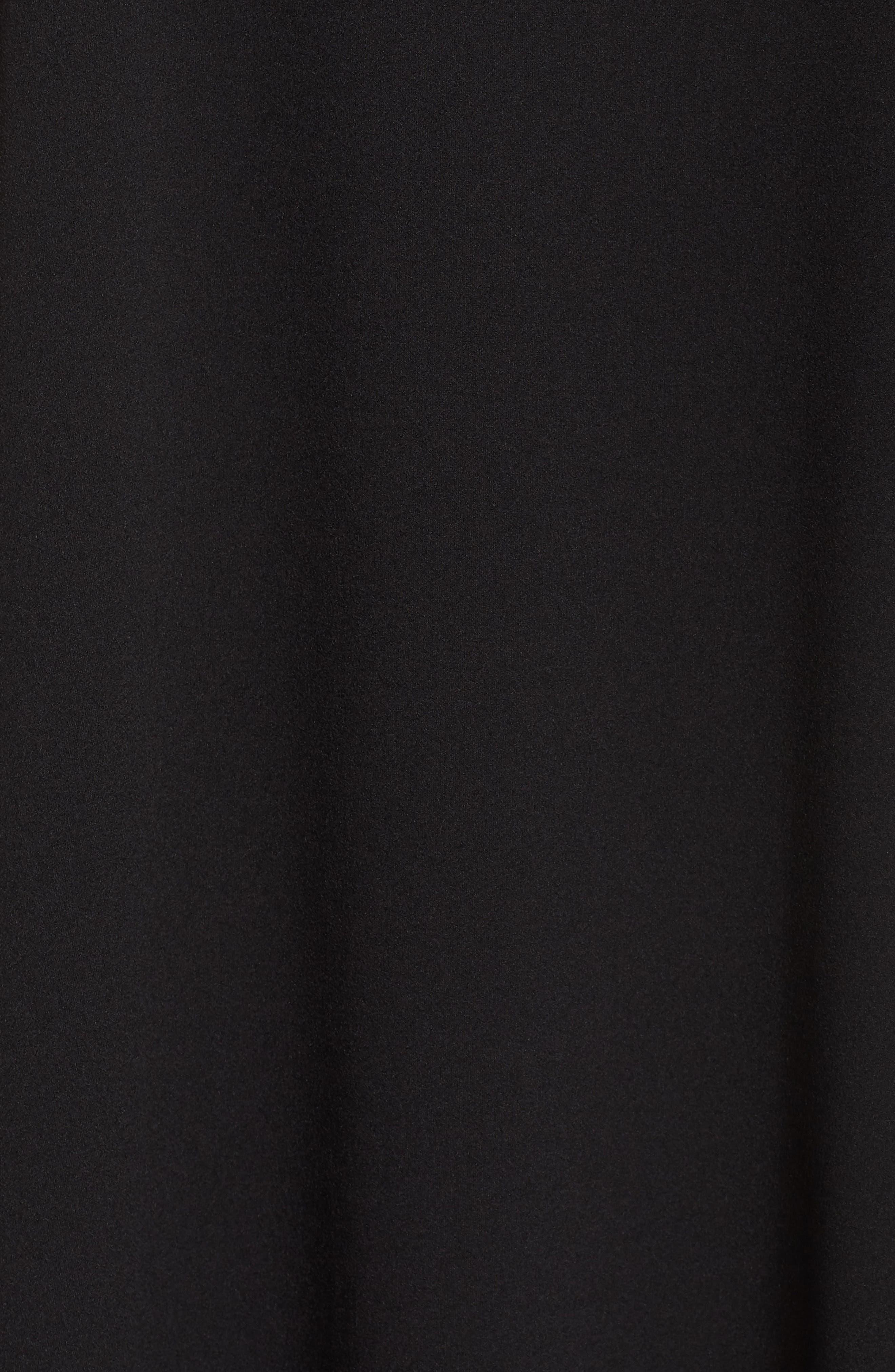 Short Sleeve Knit Dress,                             Alternate thumbnail 5, color,                             Black