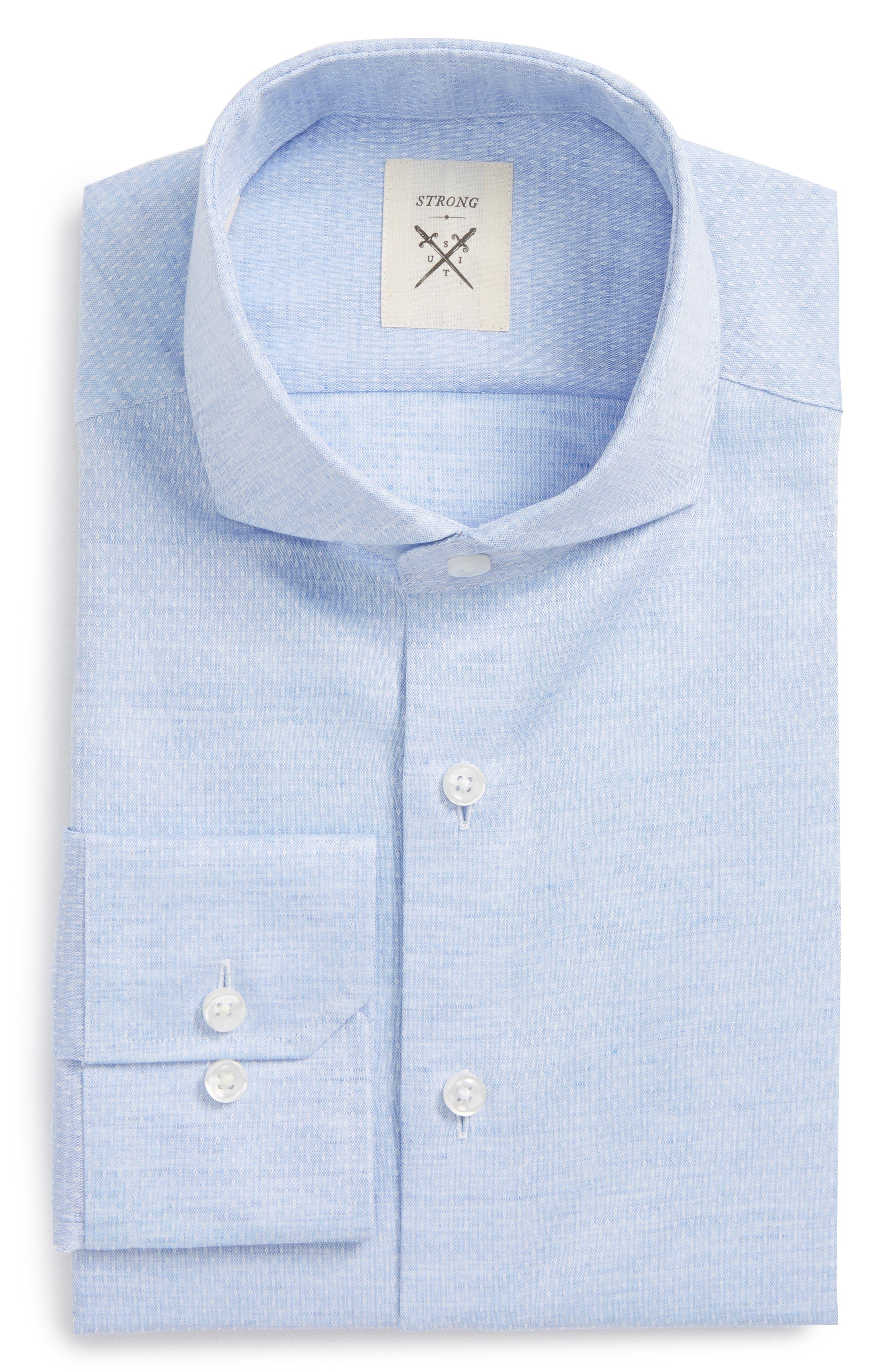 Main Image - Strong Suit Espirit Trim Fit Dot Dress Shirt