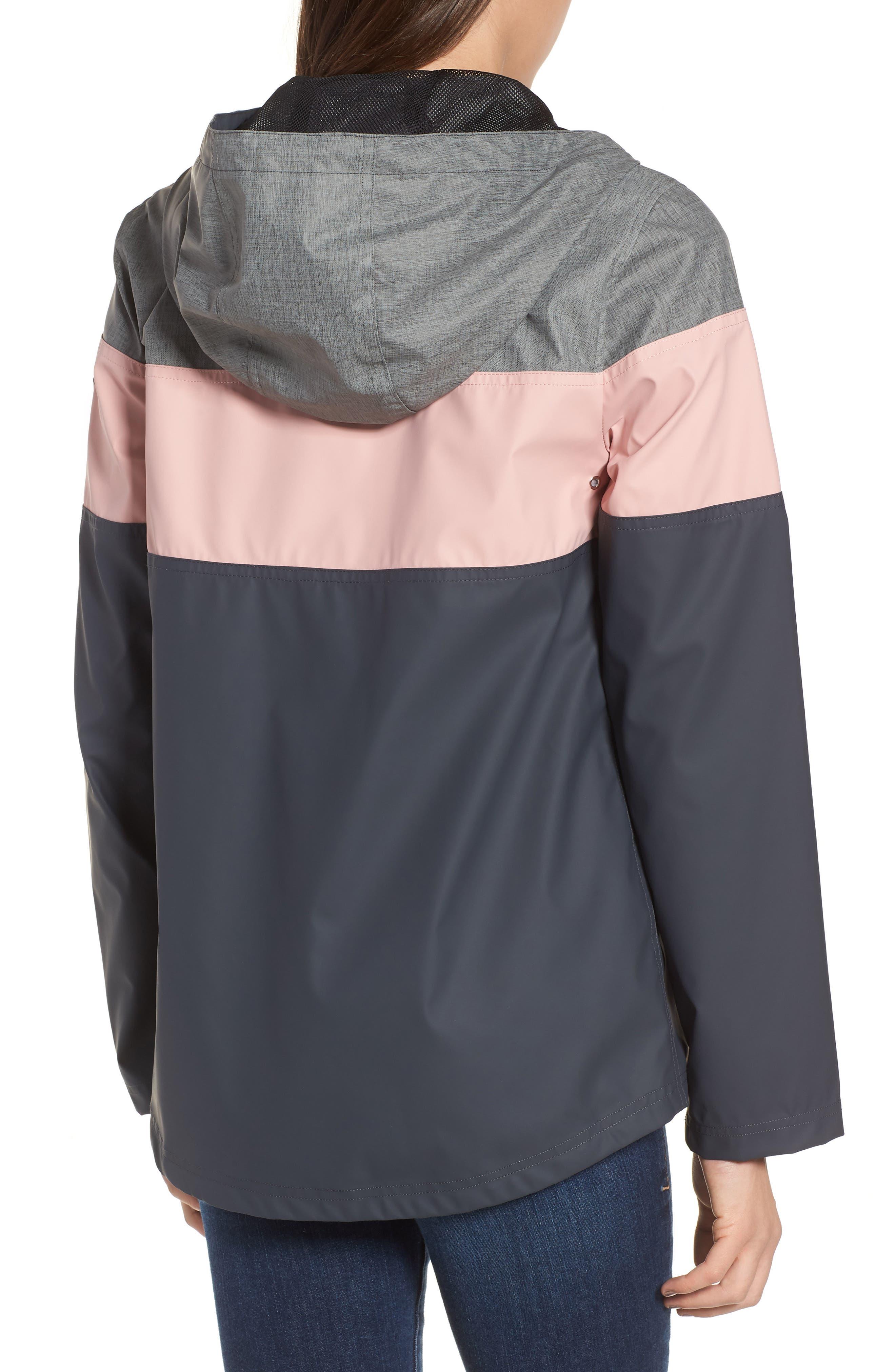 Hooded Raincoat,                             Alternate thumbnail 2, color,                             Storm/ Blush/ Mech Grey