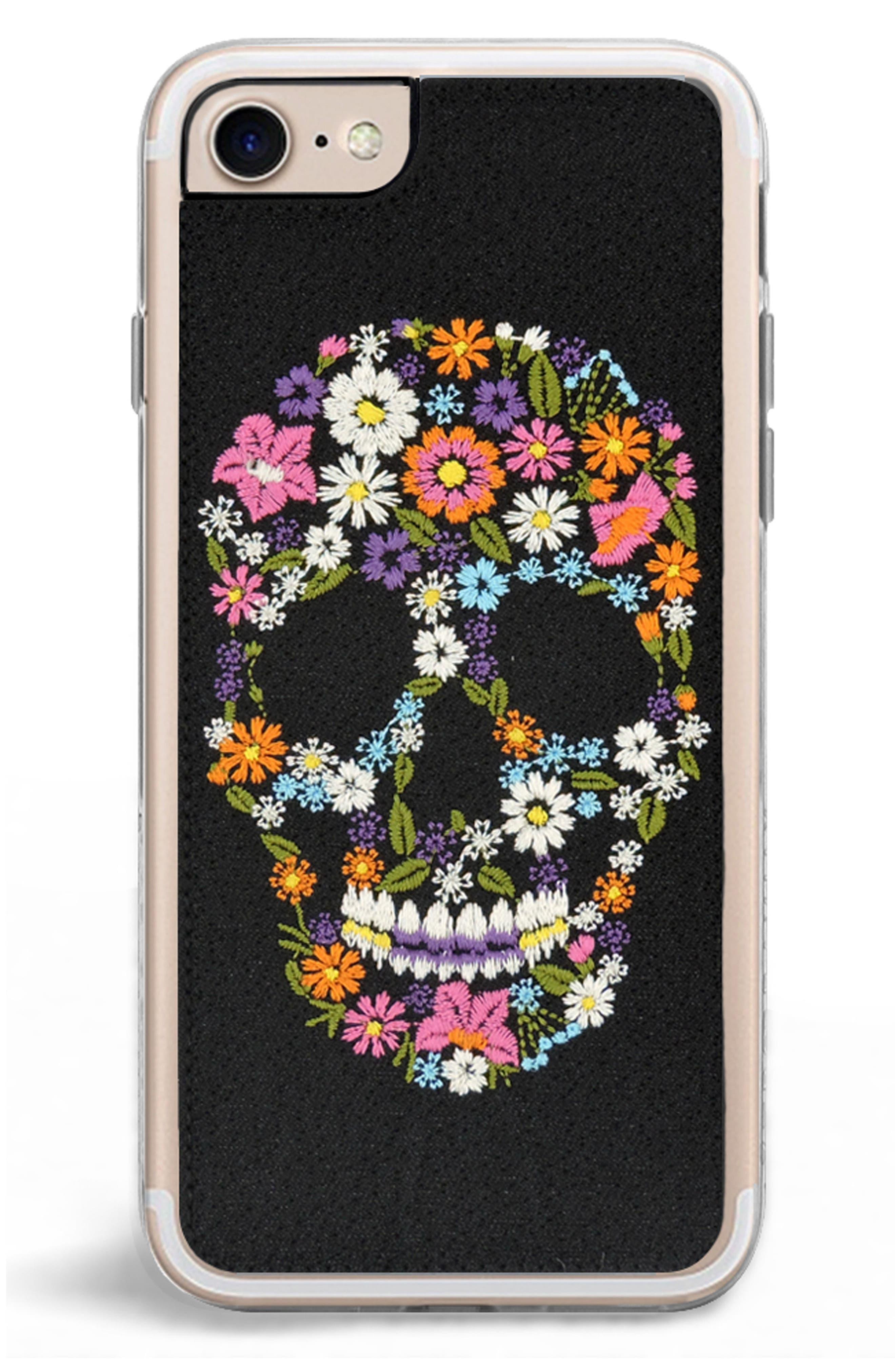 Calavera iPhone 7/8 & 7/8 Plus Case,                             Alternate thumbnail 2, color,                             Black Multi