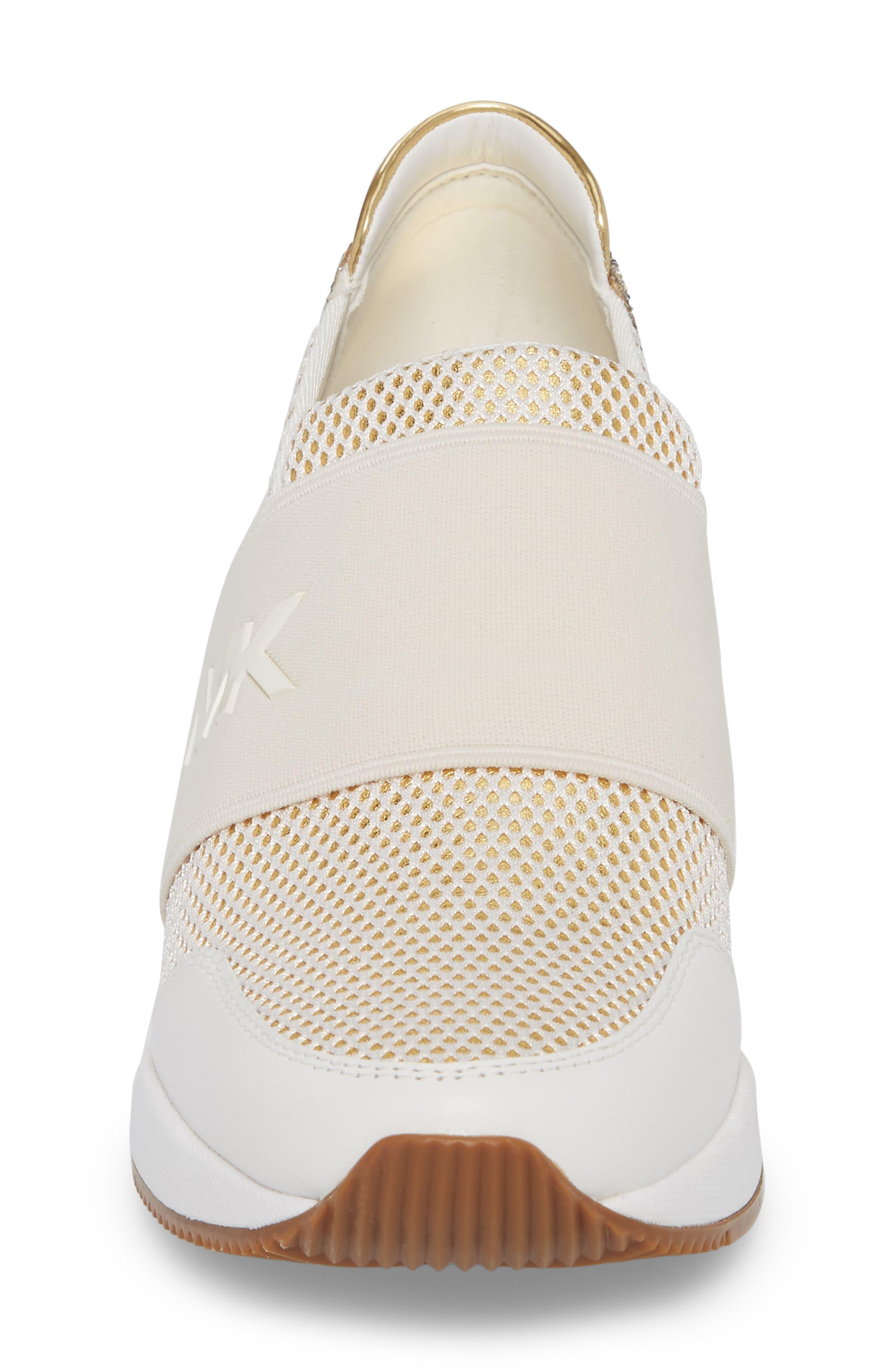 Felix Slip-On Glitter Sneaker,                             Alternate thumbnail 4, color,                             Gold