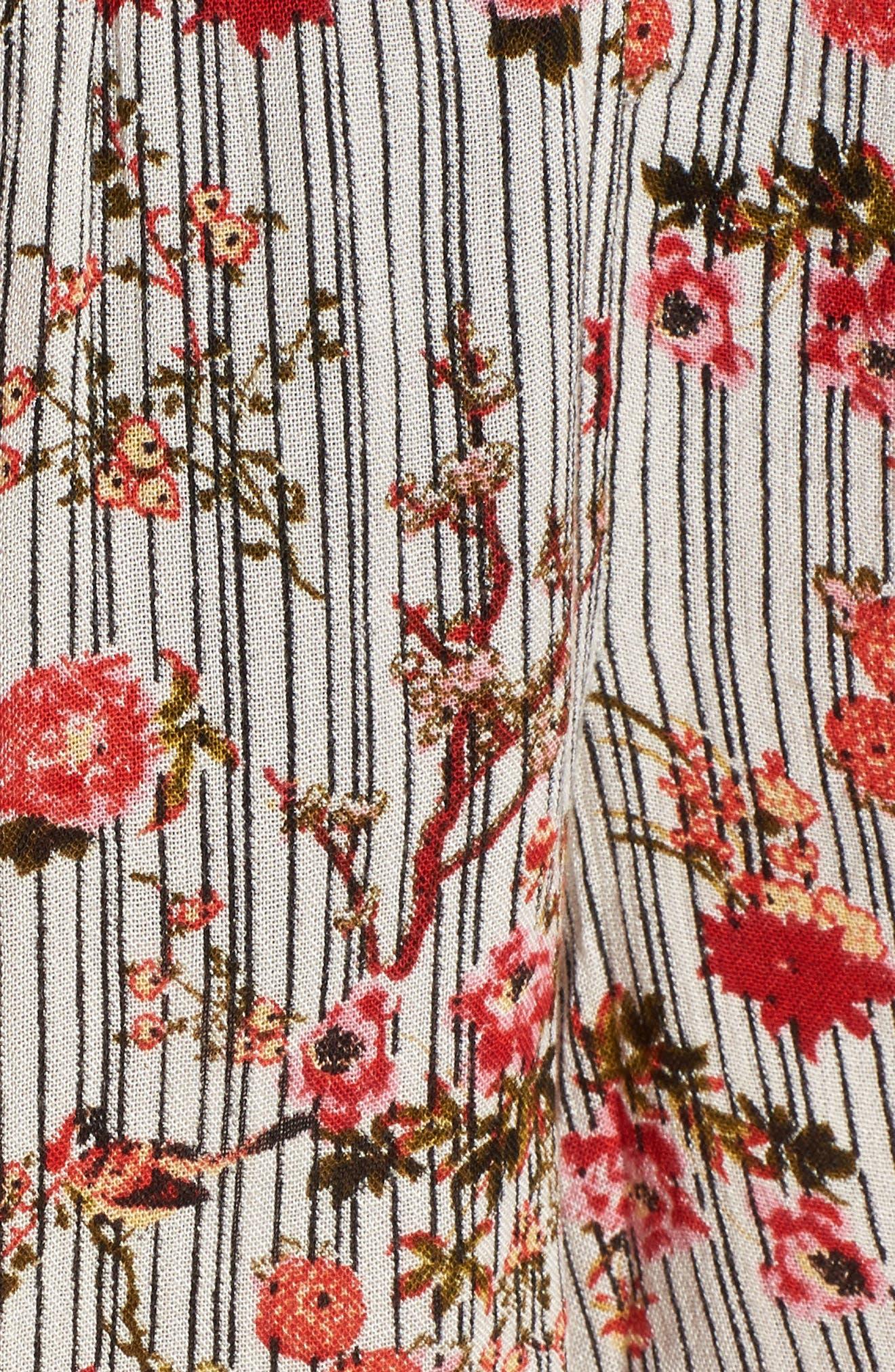Primrose Floral Print Shorts,                             Alternate thumbnail 7, color,                             Multi