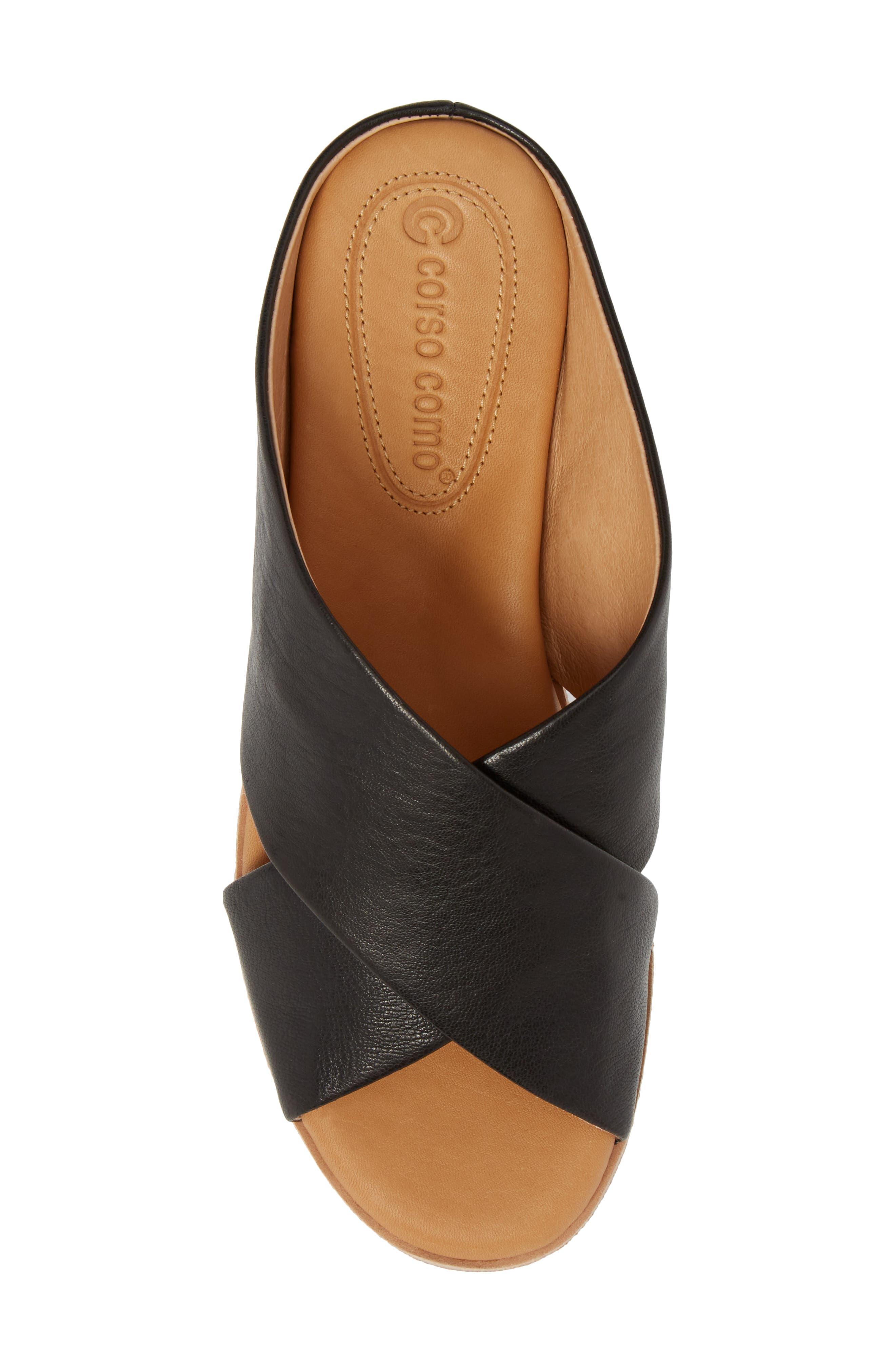Brunna Sandal,                             Alternate thumbnail 5, color,                             Black Leather