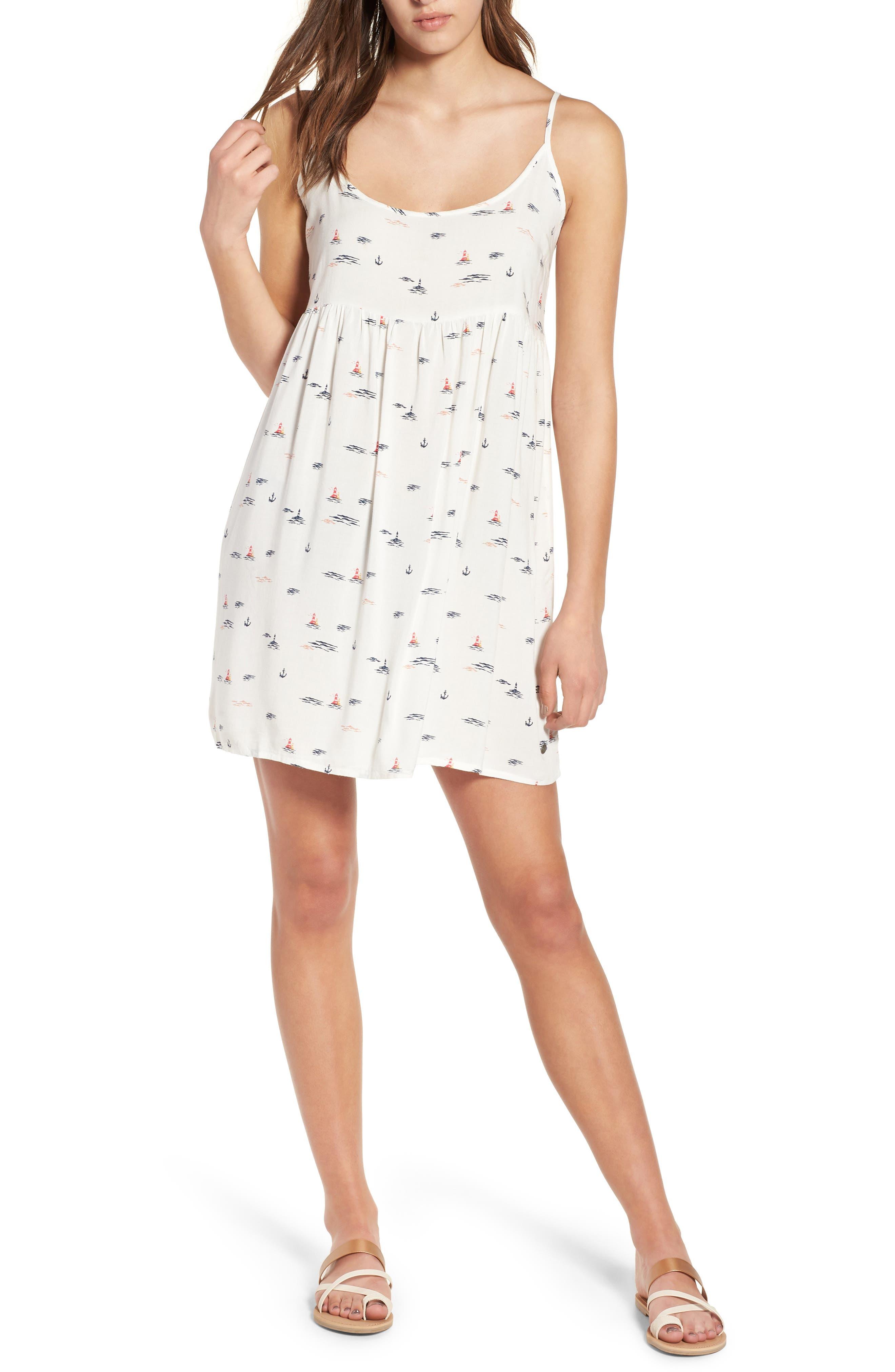 Roxy Tropical Sundance Print Babydoll Dress