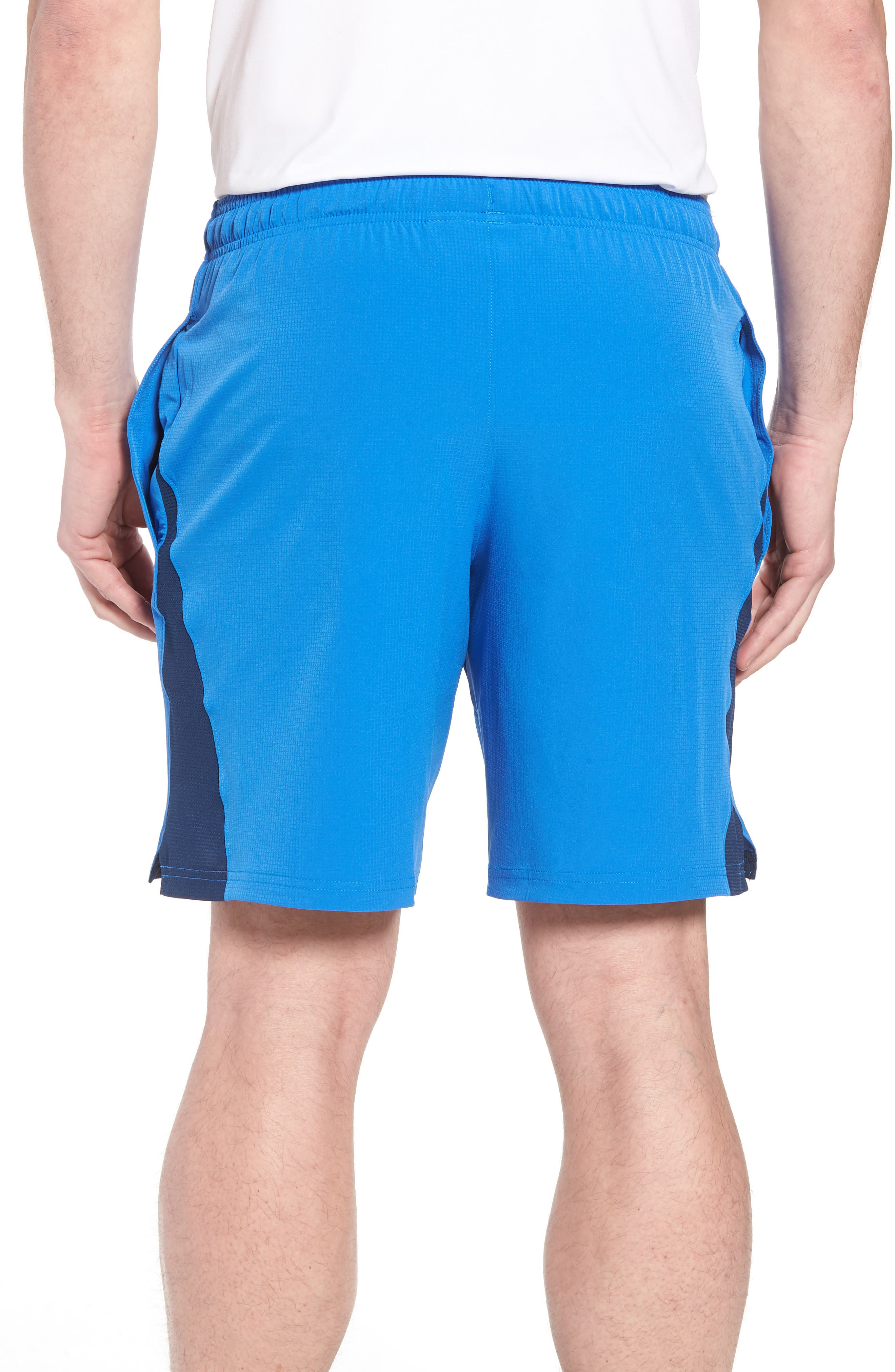Regular Fit Cage Shorts,                             Alternate thumbnail 2, color,                             Mediterranean/ Graphite