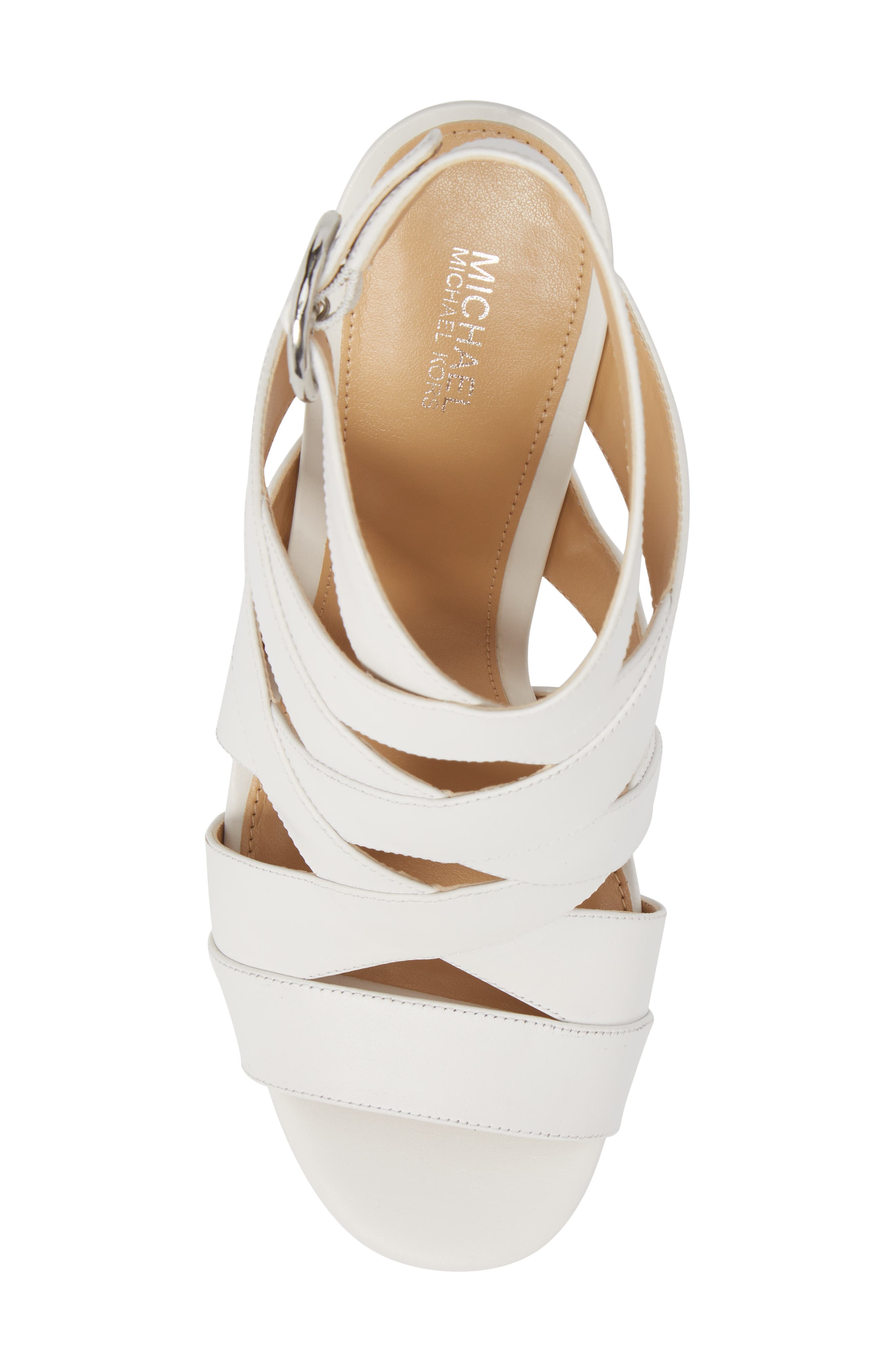 Alana Sandal,                             Alternate thumbnail 5, color,                             Optic White Leather