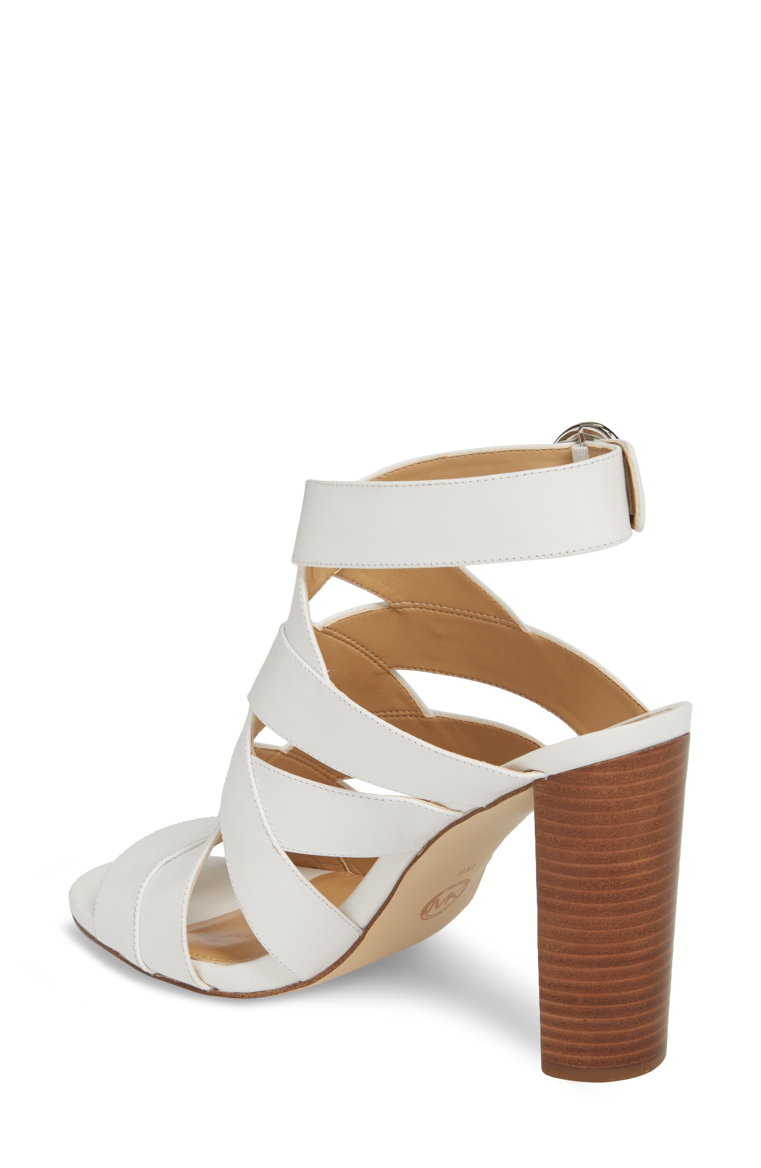 Alana Sandal,                             Alternate thumbnail 2, color,                             Optic White Leather