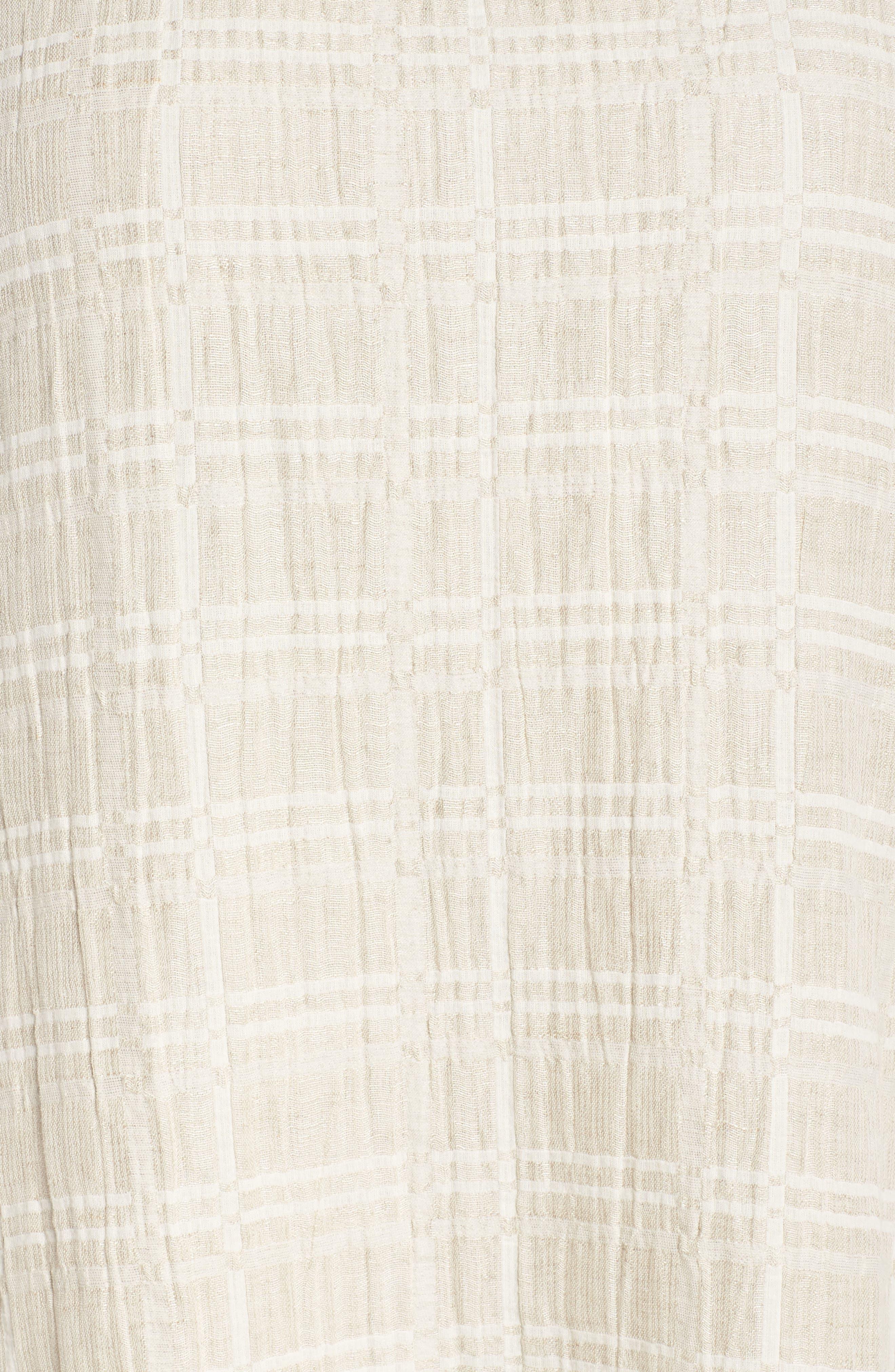 Organic Cotton & Linen Shift Dress,                             Alternate thumbnail 6, color,                             Natural