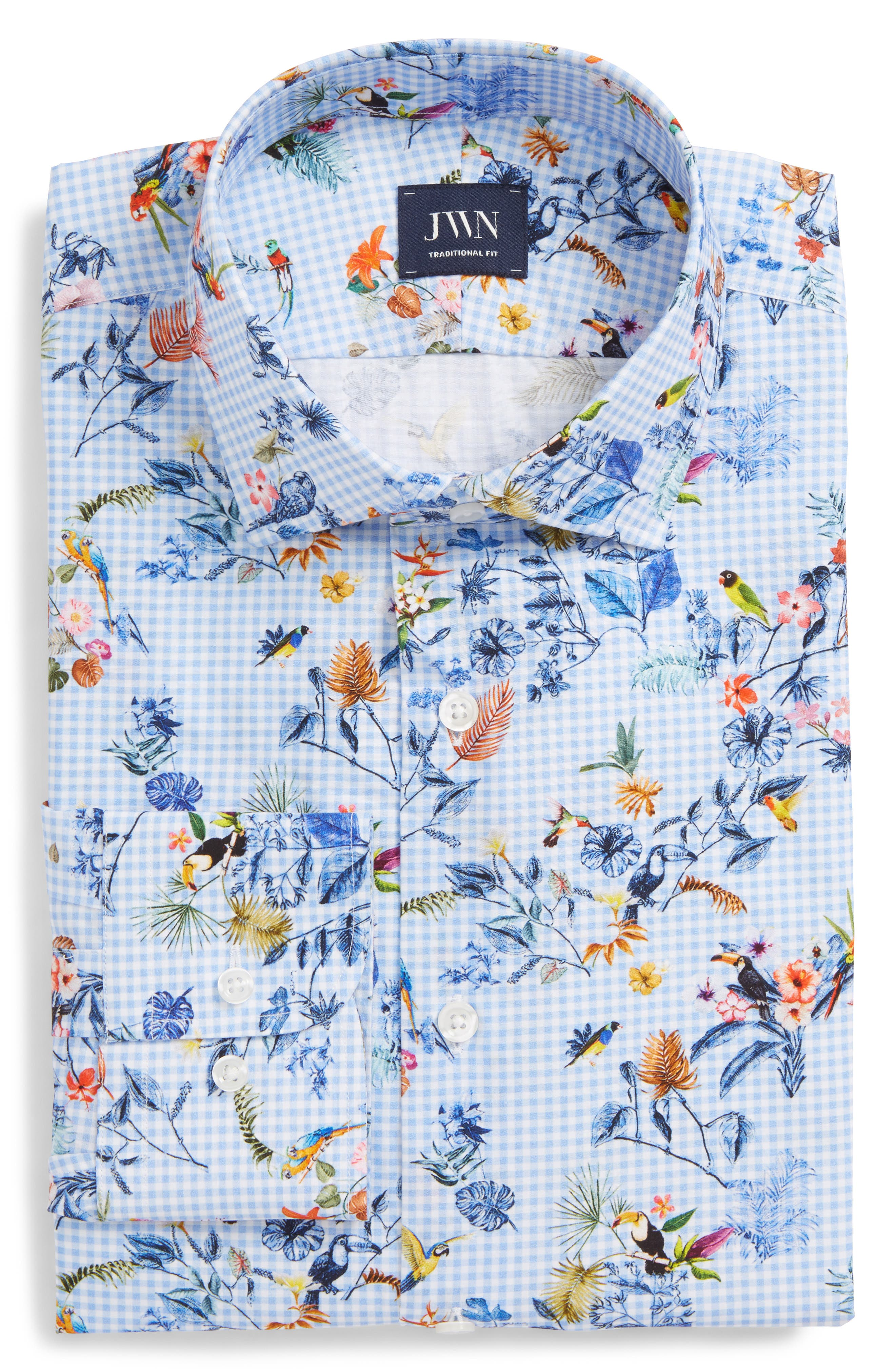 John W. Nordstrom® Traditional Fit Floral Dress Shirt