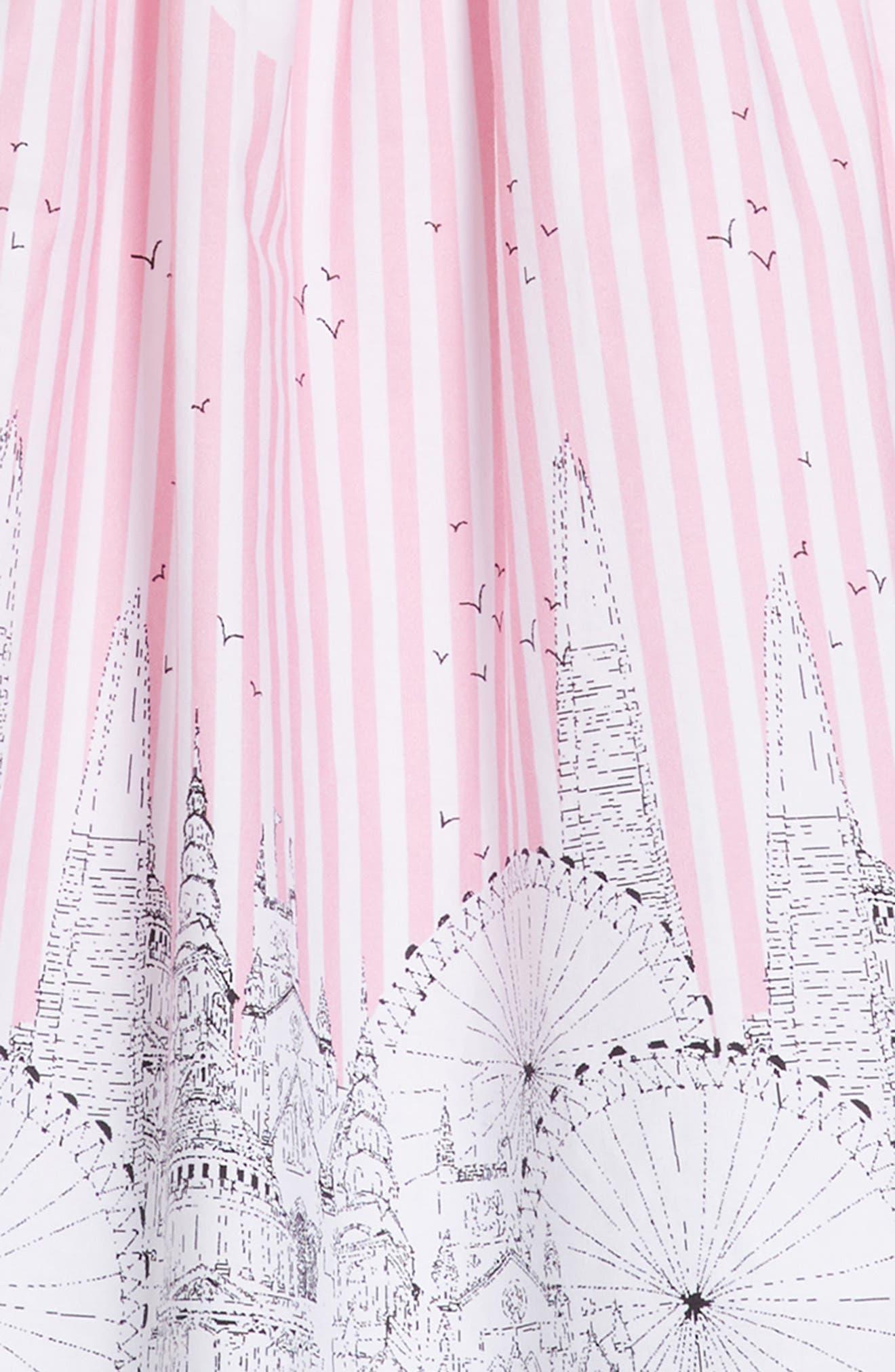 Cityscape Dress,                             Alternate thumbnail 3, color,                             Pink/ White