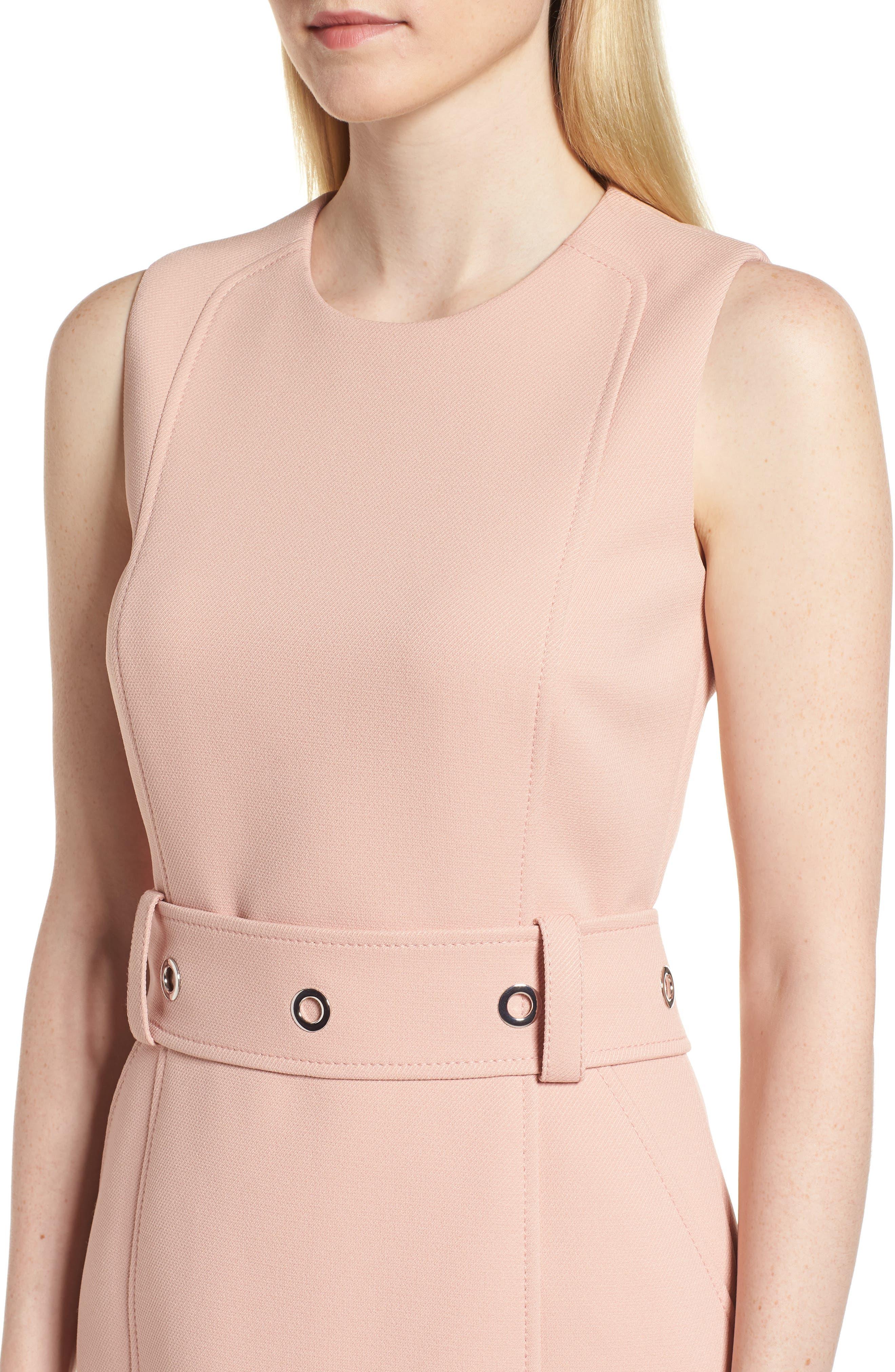Duleama Compact Twill Dress,                             Alternate thumbnail 4, color,                             Blush