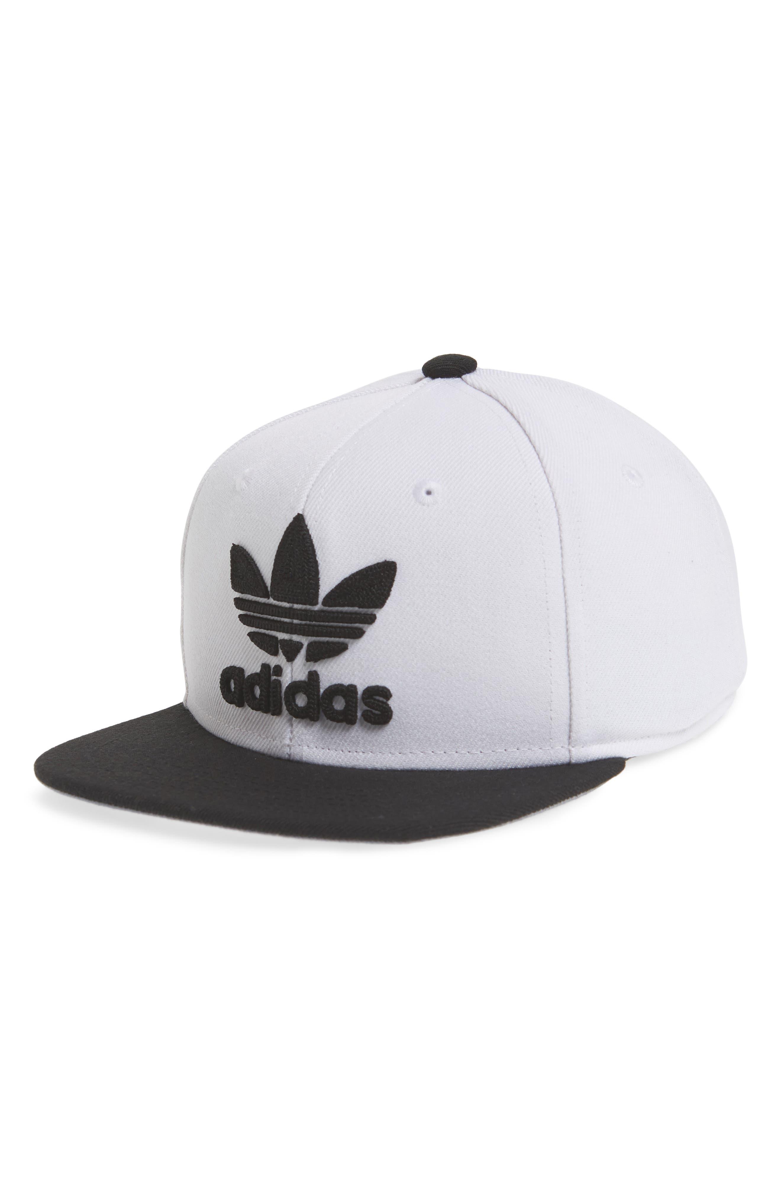 Originals Snapback Hat,                         Main,                         color, White/ Black