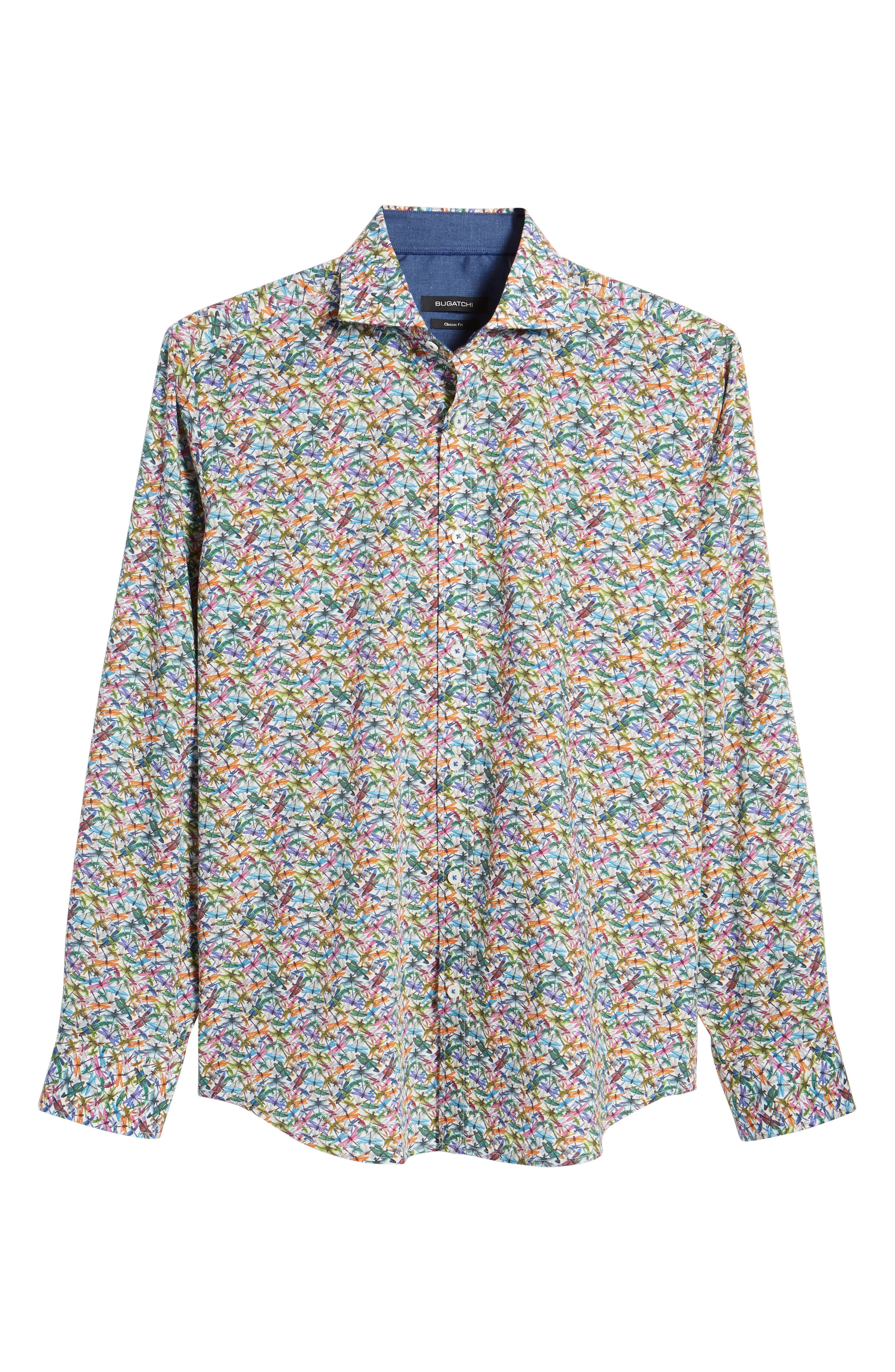 Classic Fit Sport Shirt,                             Alternate thumbnail 6, color,                             Candy