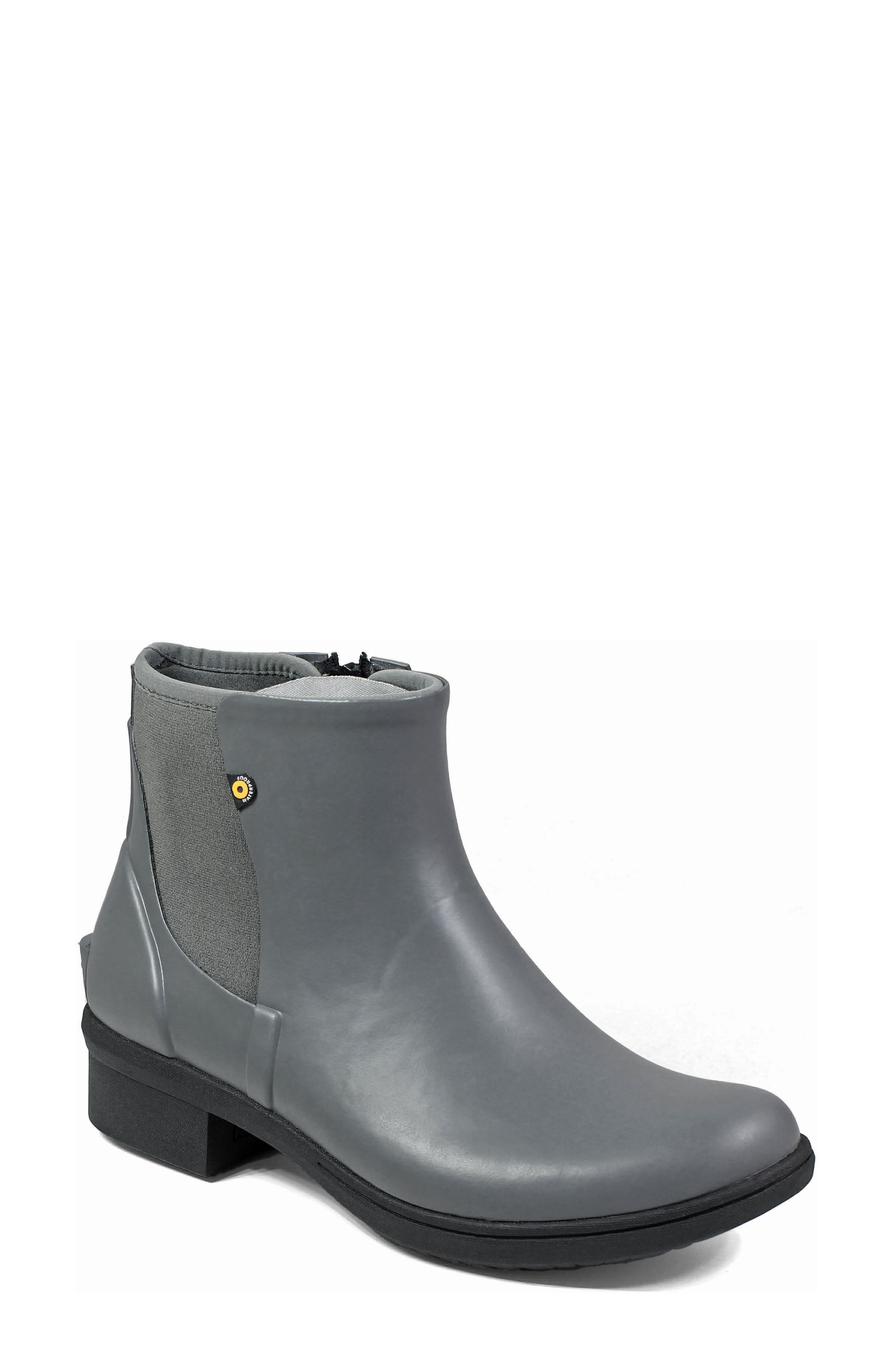 Auburn Insulated Waterproof Boot,                         Main,                         color, Grey