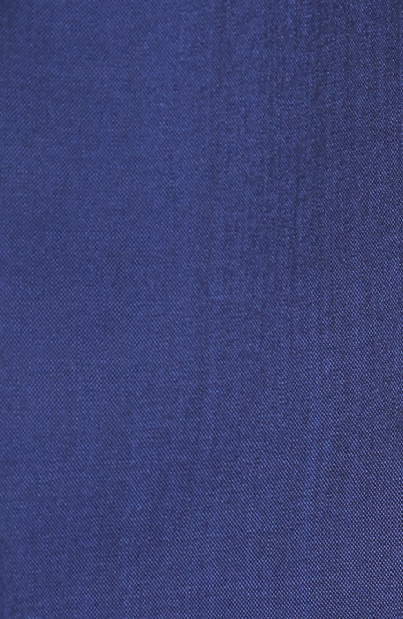 Dagger Flat Front Solid Wool Trousers,                             Alternate thumbnail 5, color,                             High Blue