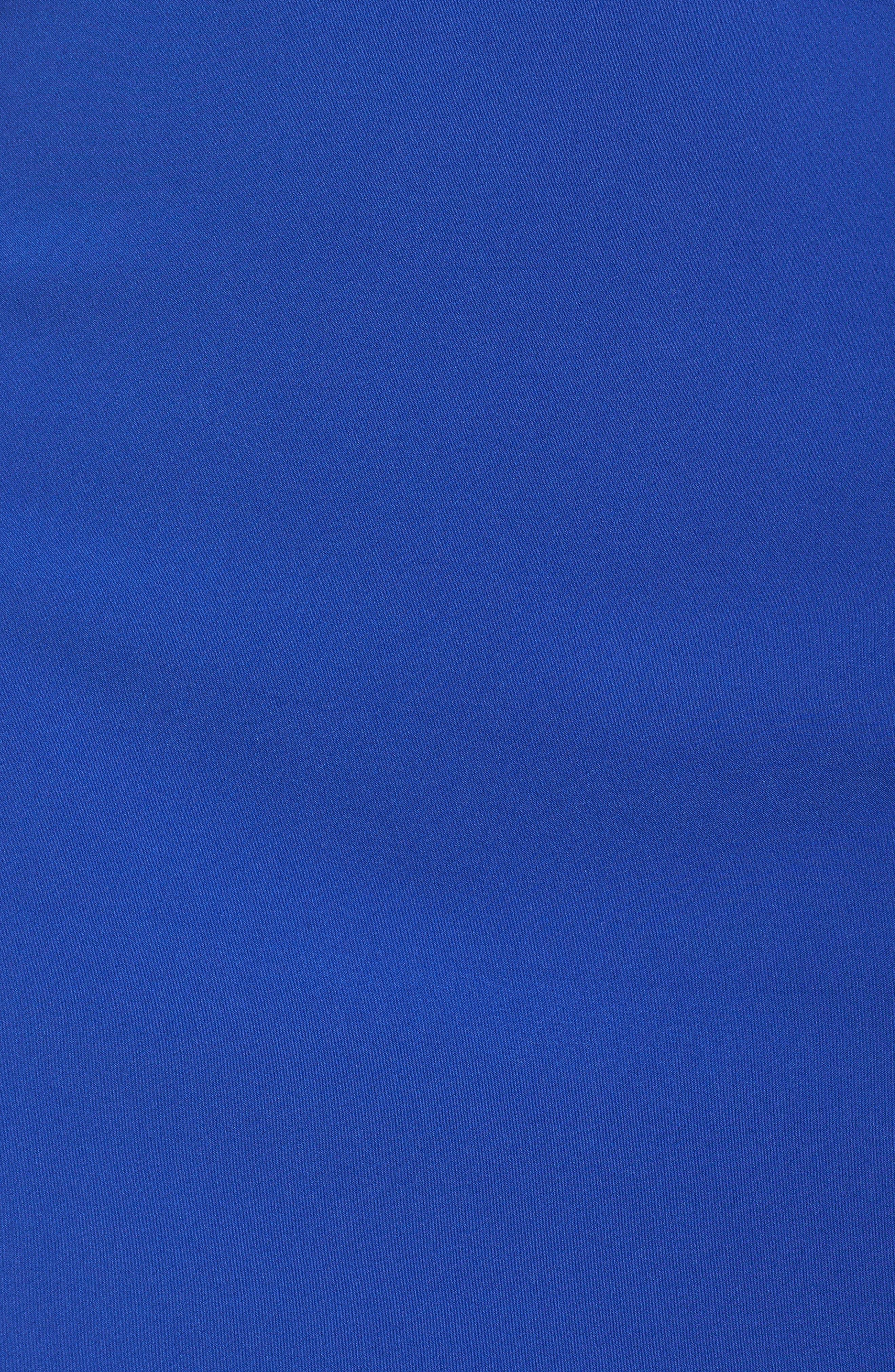 Taylor Racer Cutout Asymmetrical Dress,                             Alternate thumbnail 5, color,                             Cobalt