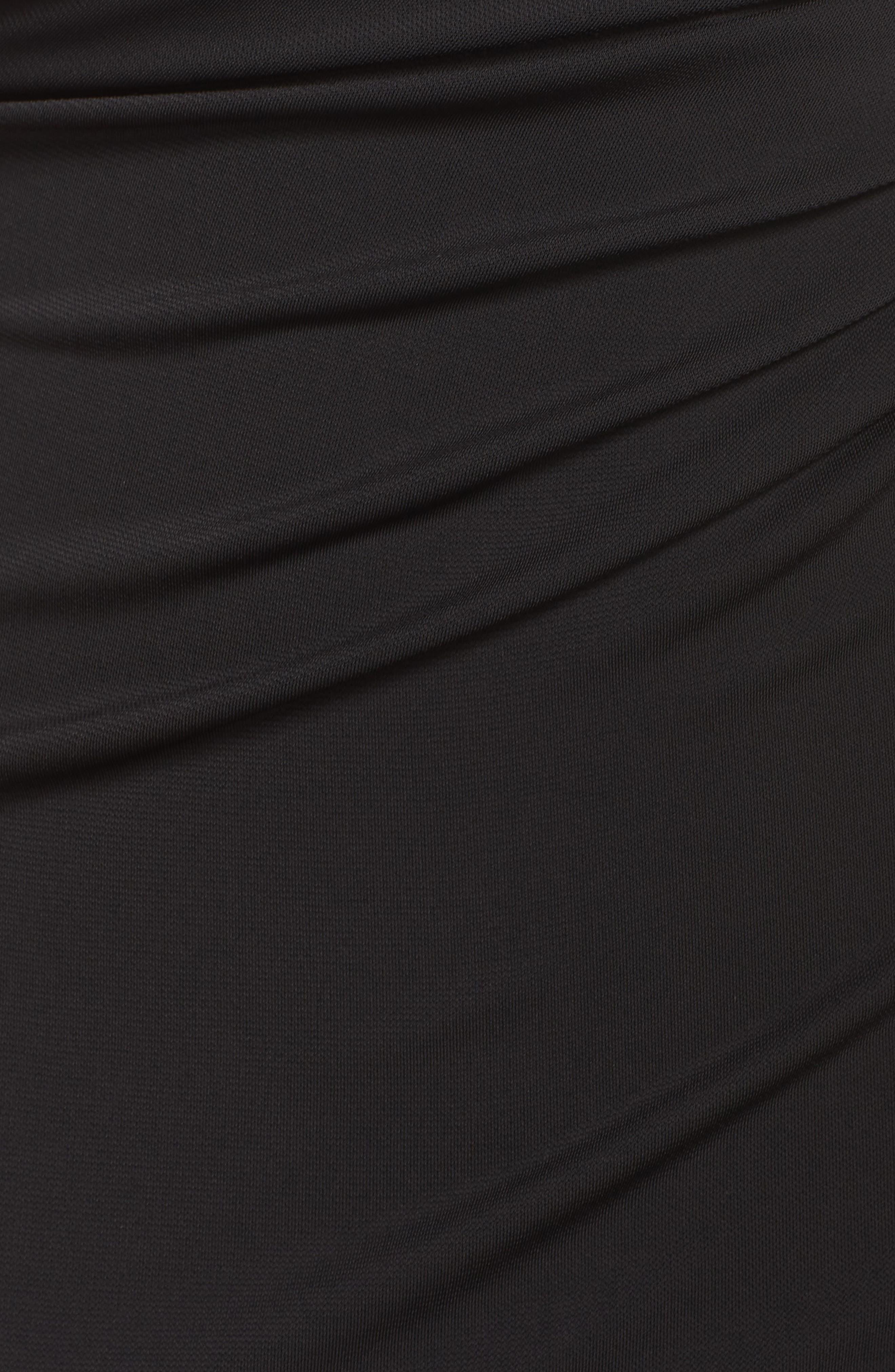 Kerri One-Shoulder Gown,                             Alternate thumbnail 5, color,                             Black