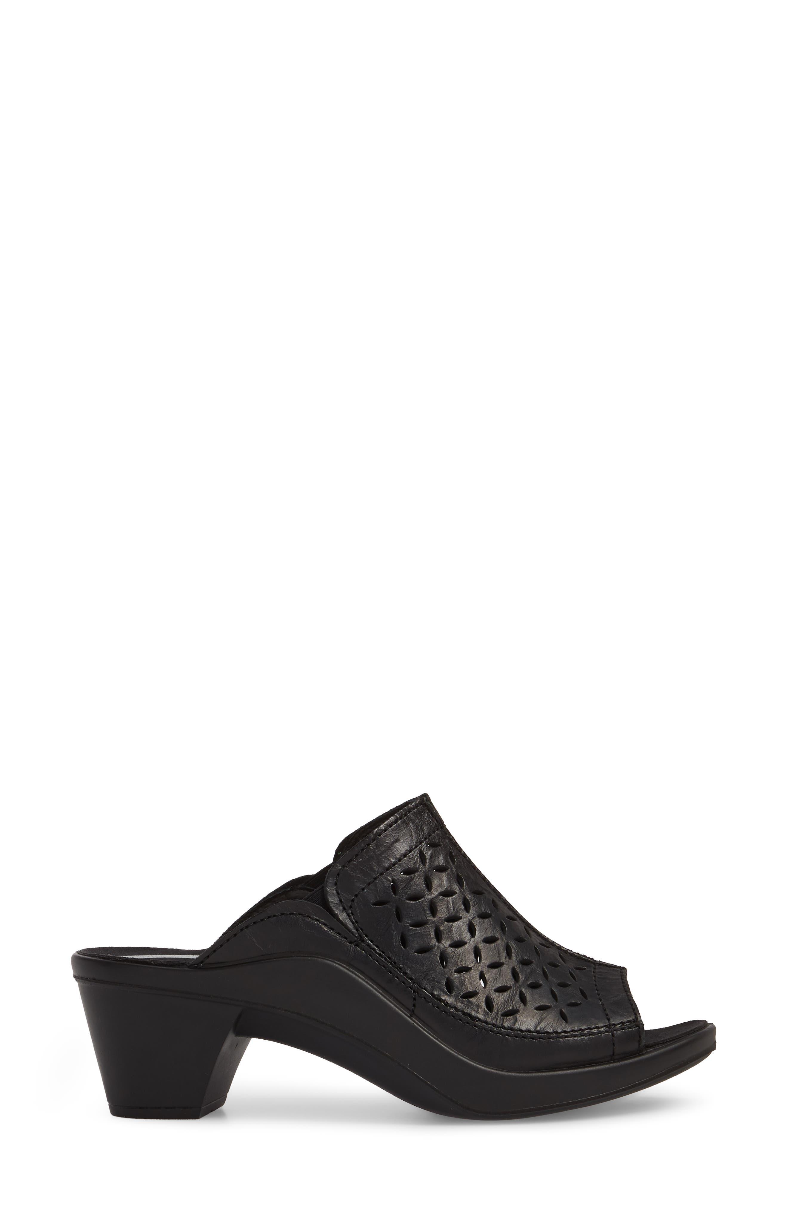 Mokassetta 326 Mule,                             Alternate thumbnail 3, color,                             Black Leather