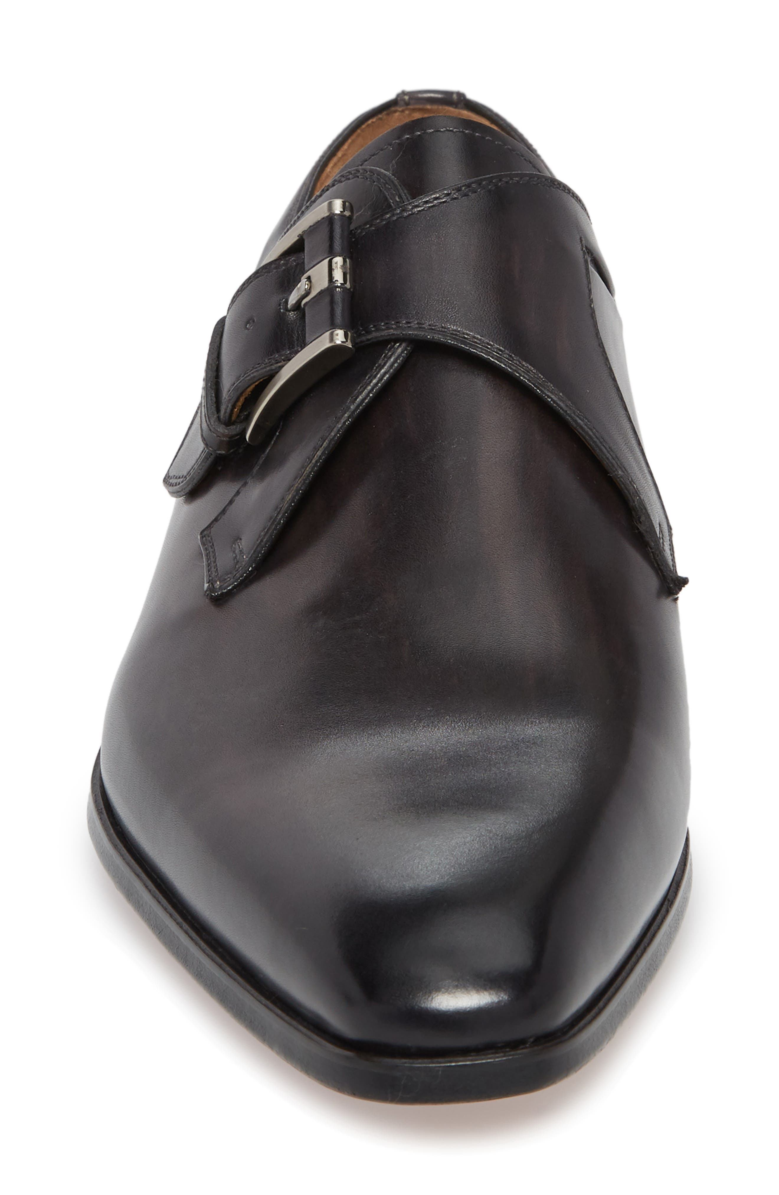Toma Single Buckle Monk Shoe,                             Alternate thumbnail 4, color,                             Grey Leather