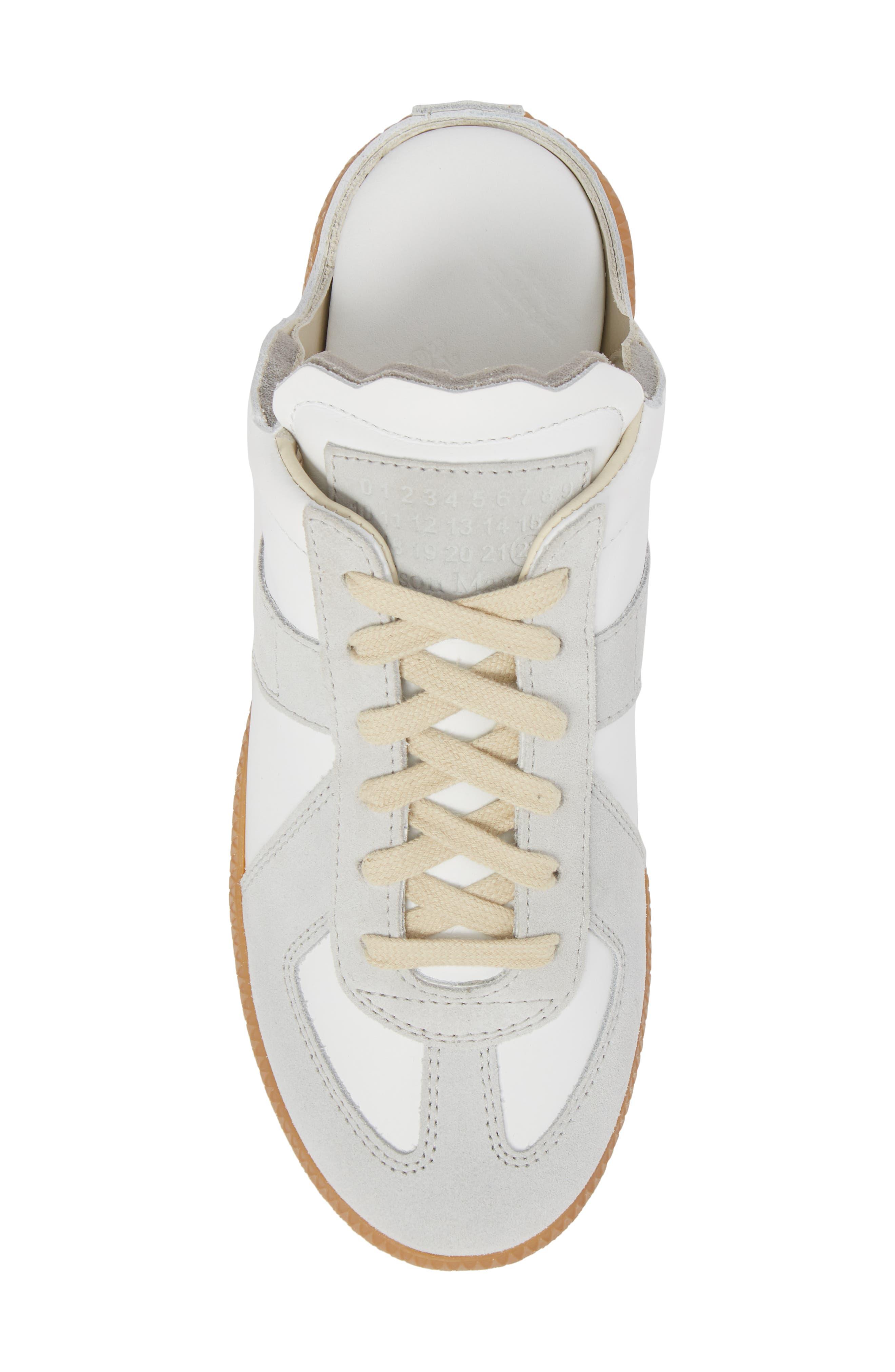 Replica Sneaker Mule,                             Alternate thumbnail 5, color,                             Amber/ White