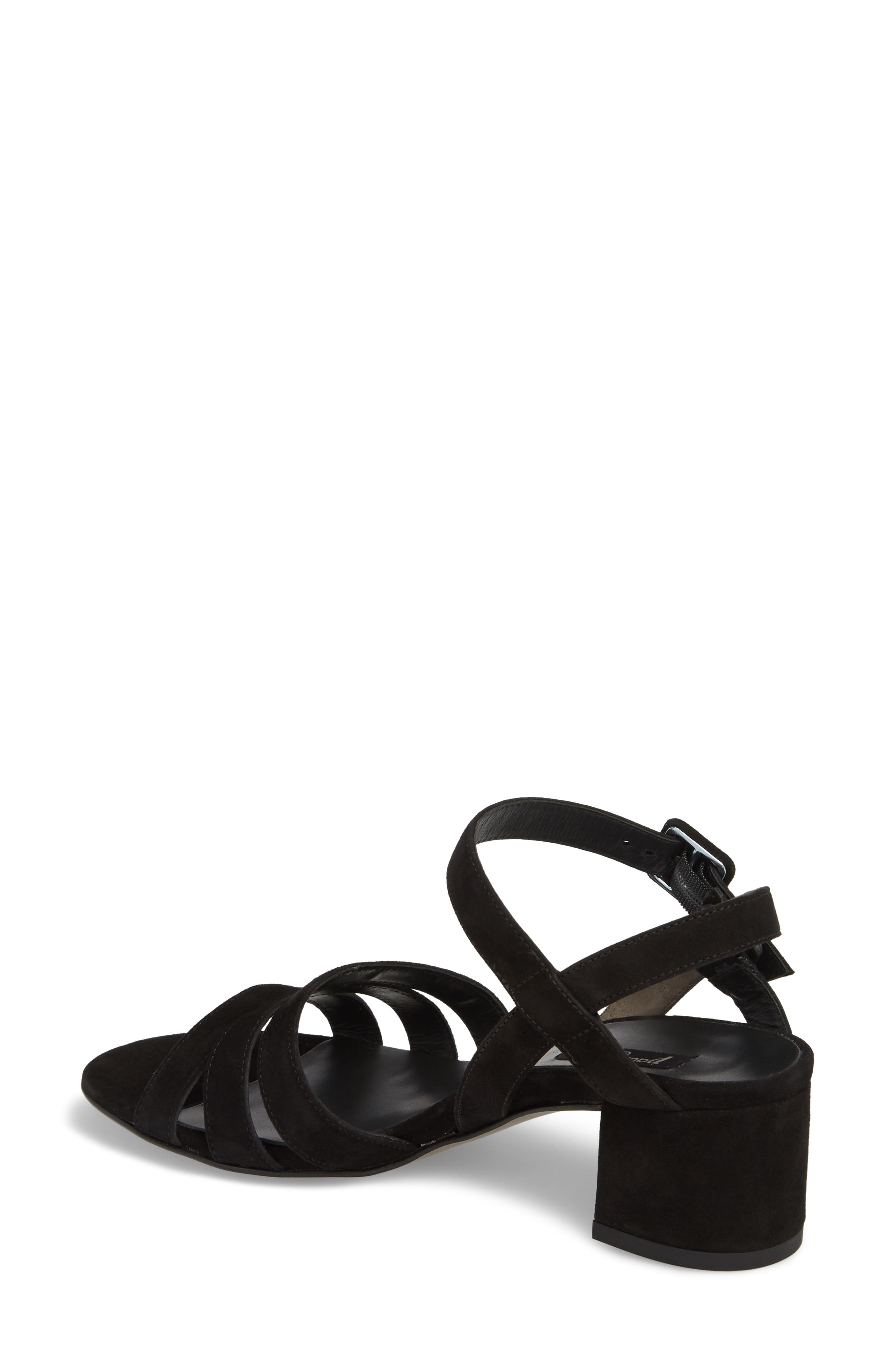 Rosemary Sandal,                             Alternate thumbnail 2, color,                             Black Suede
