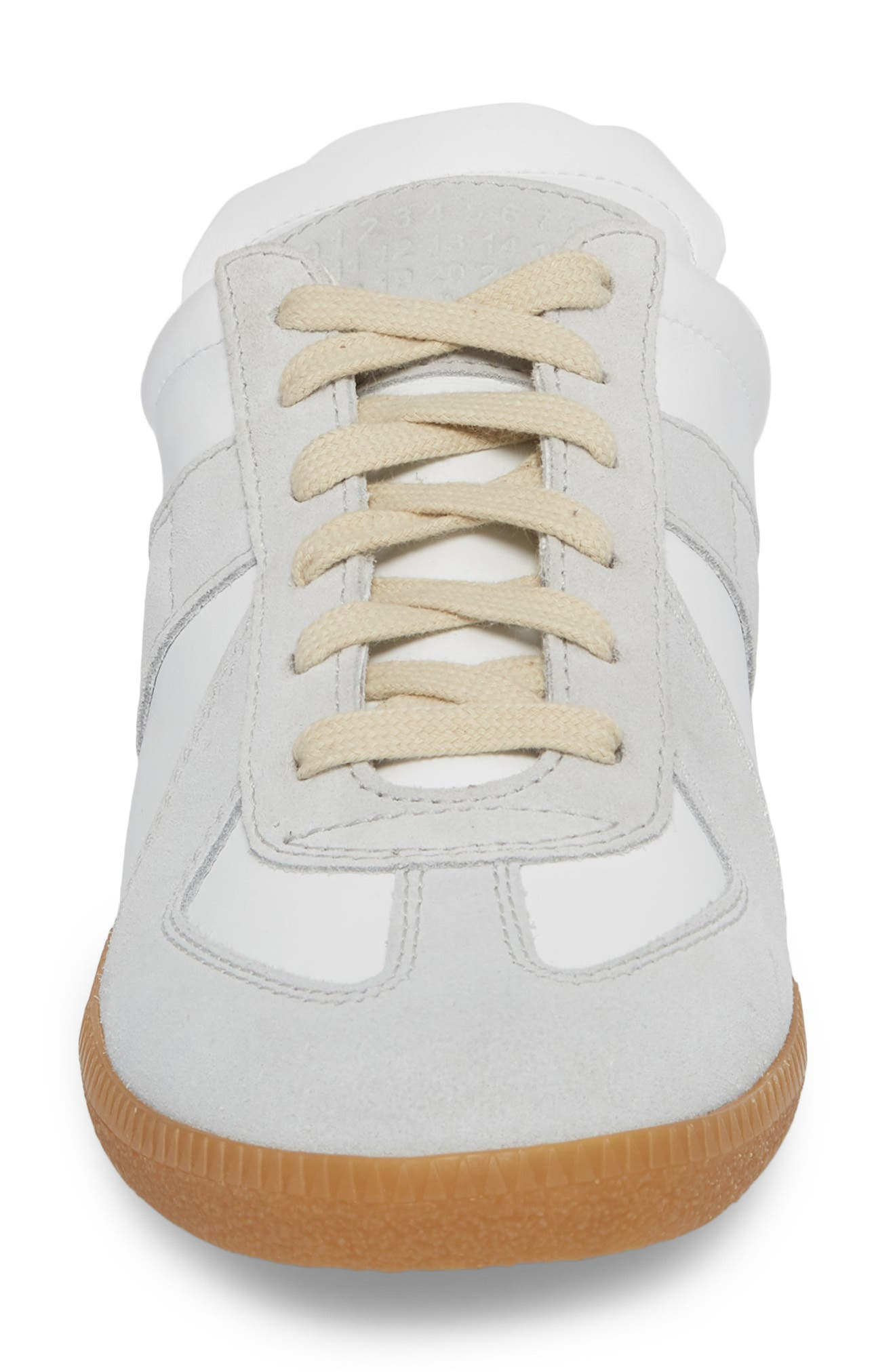 Replica Sneaker Mule,                             Alternate thumbnail 4, color,                             Amber/ White