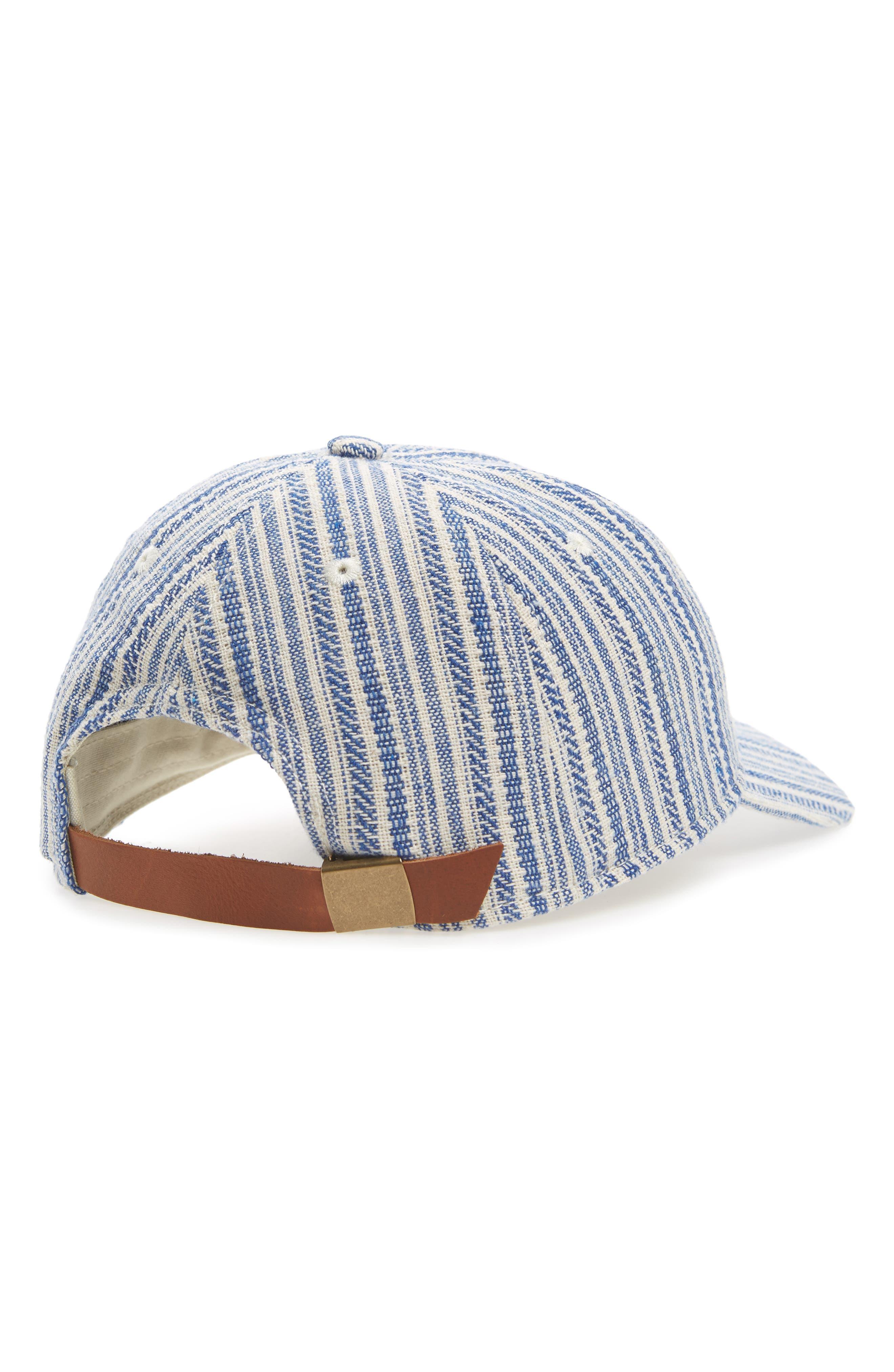 Textured Stripe Baseball Cap,                             Alternate thumbnail 2, color,                             Alpha Blue