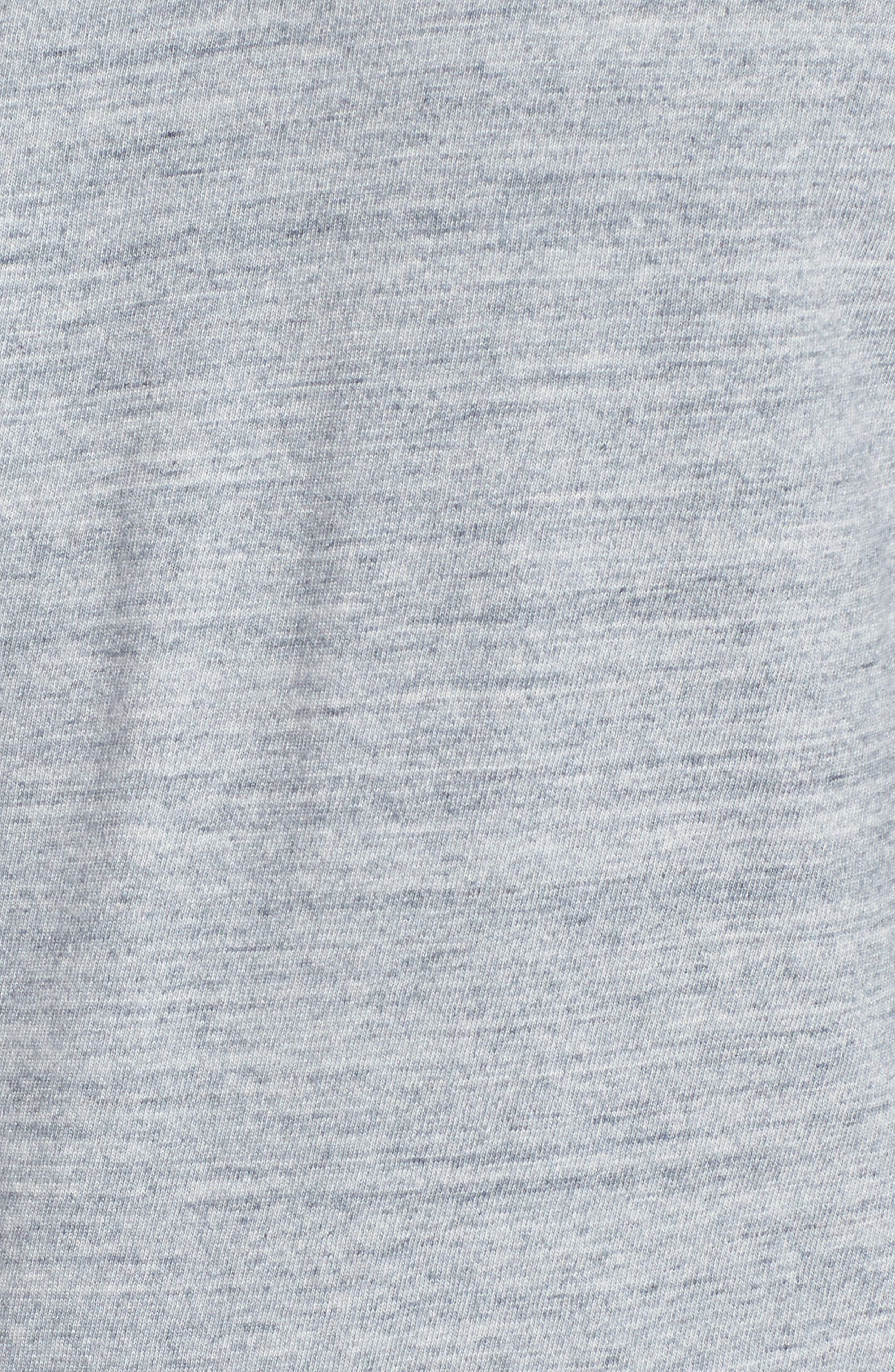 Regular Fit Top Dyed Crewneck T-Shirt,                             Alternate thumbnail 5, color,                             Grey