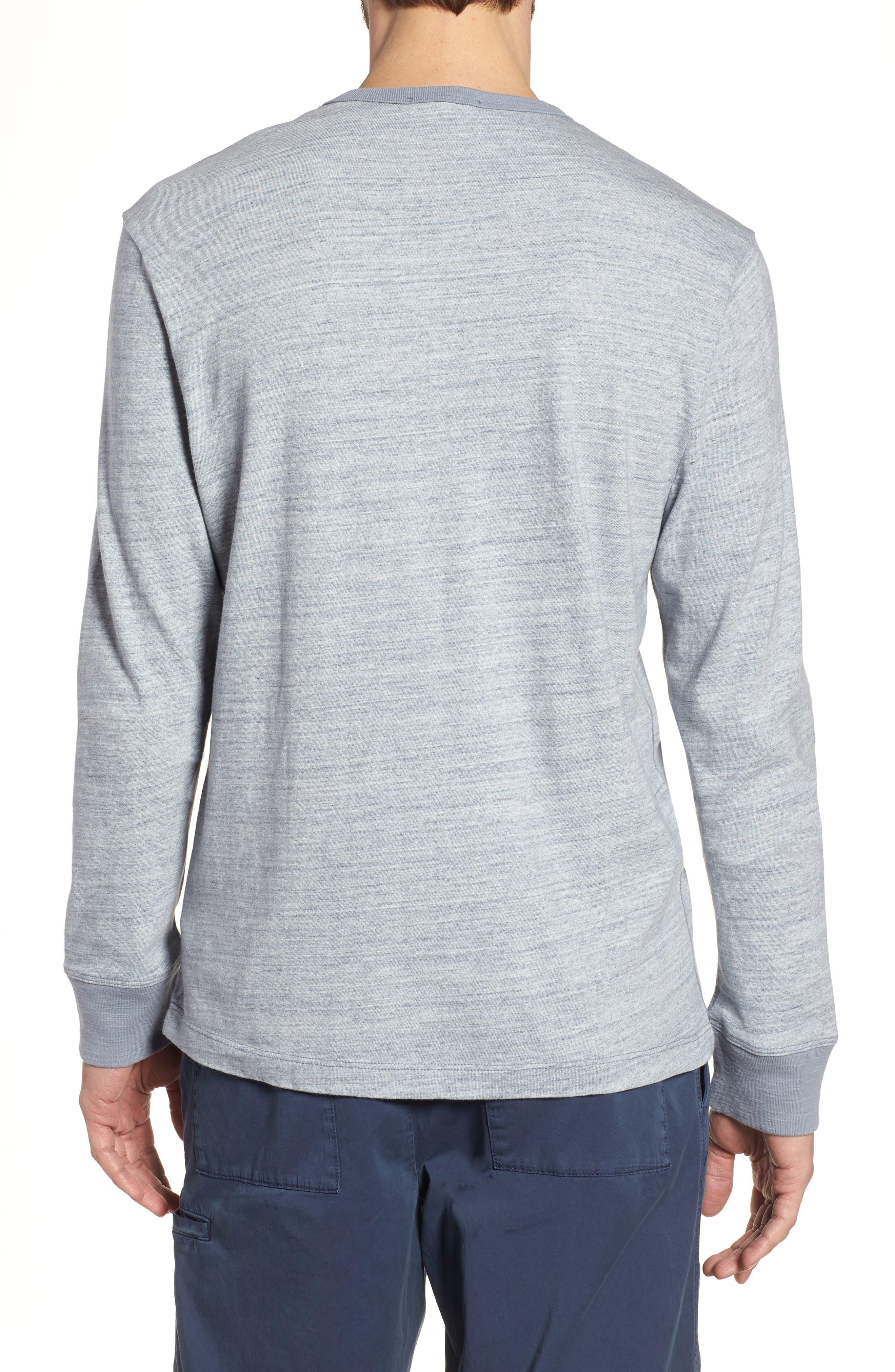 Regular Fit Top Dyed Crewneck T-Shirt,                             Alternate thumbnail 2, color,                             Grey