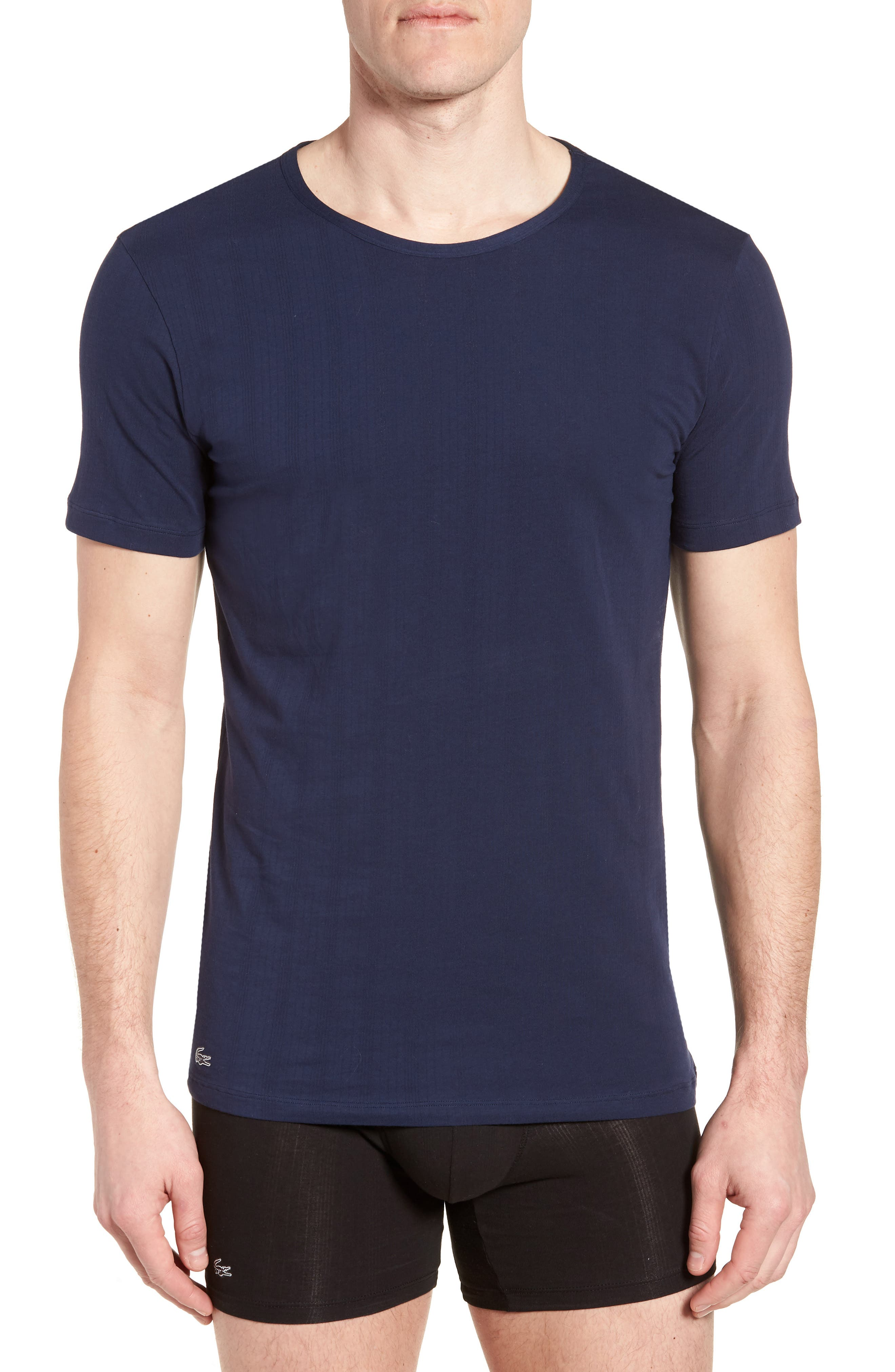 2-Pack Superfine Crewneck T-Shirts,                         Main,                         color, Navy