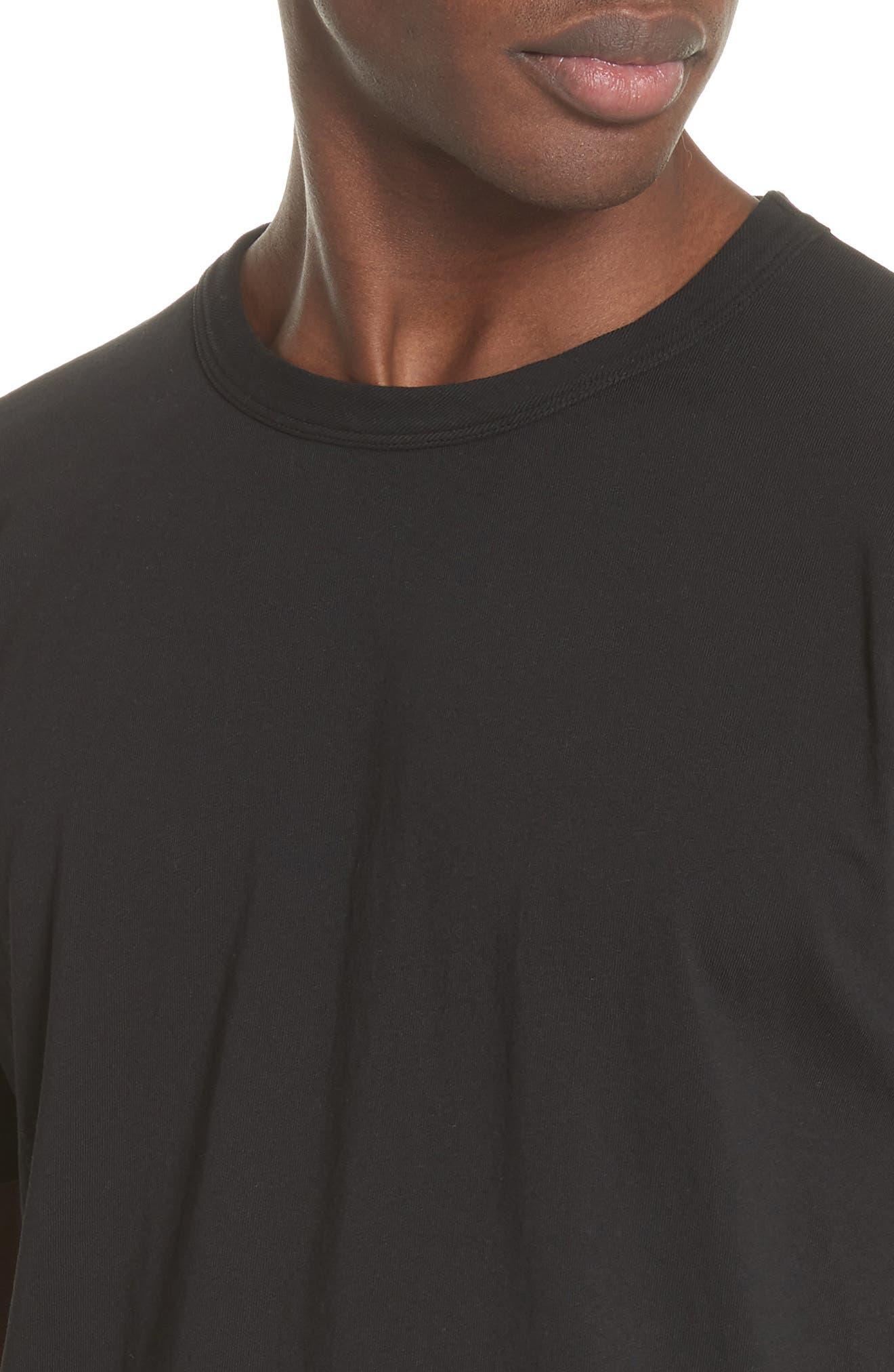 Perfect T-Shirt,                             Alternate thumbnail 4, color,                             Black
