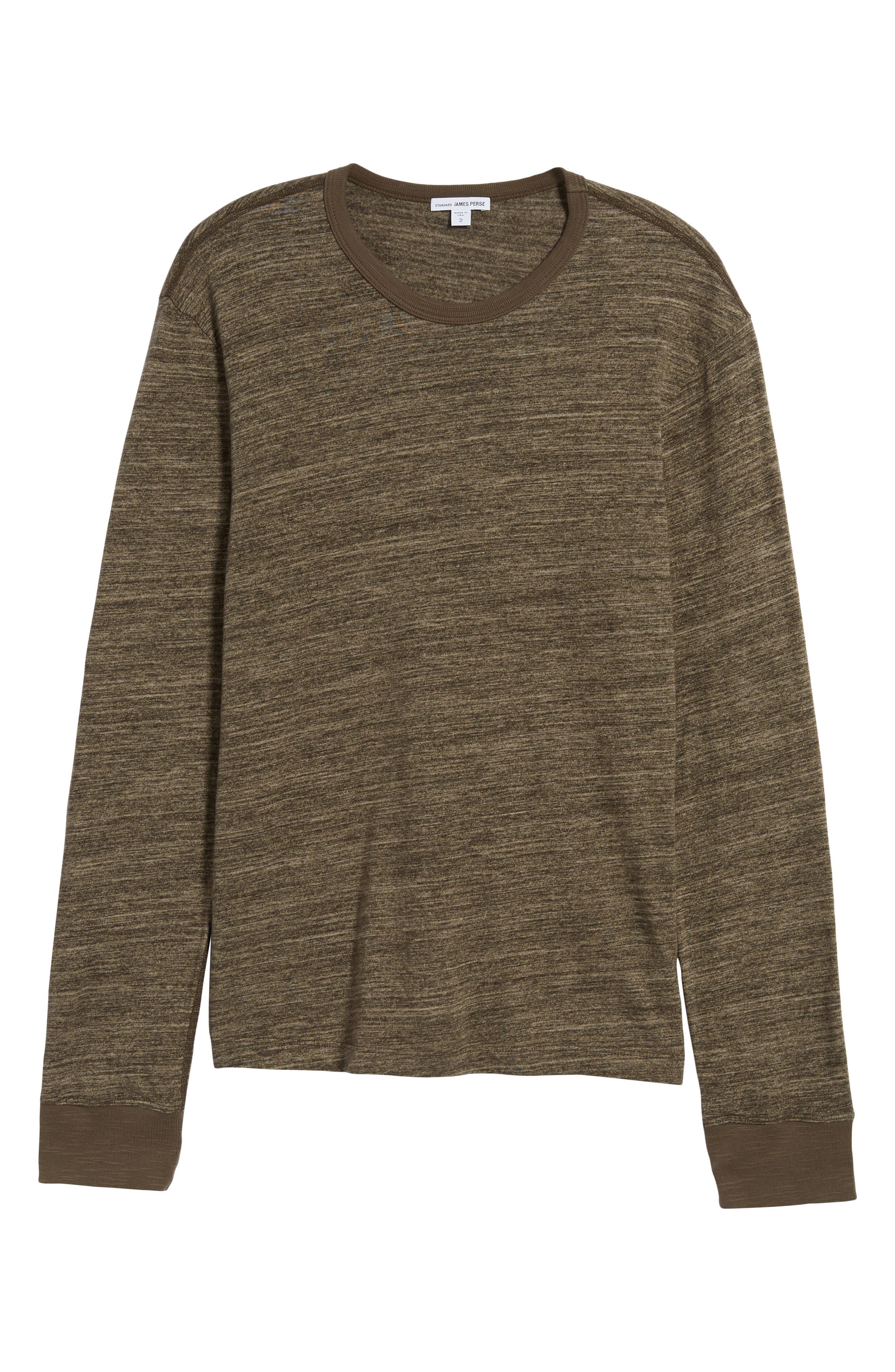 Regular Fit Top Dyed Crewneck T-Shirt,                             Alternate thumbnail 6, color,                             Grey