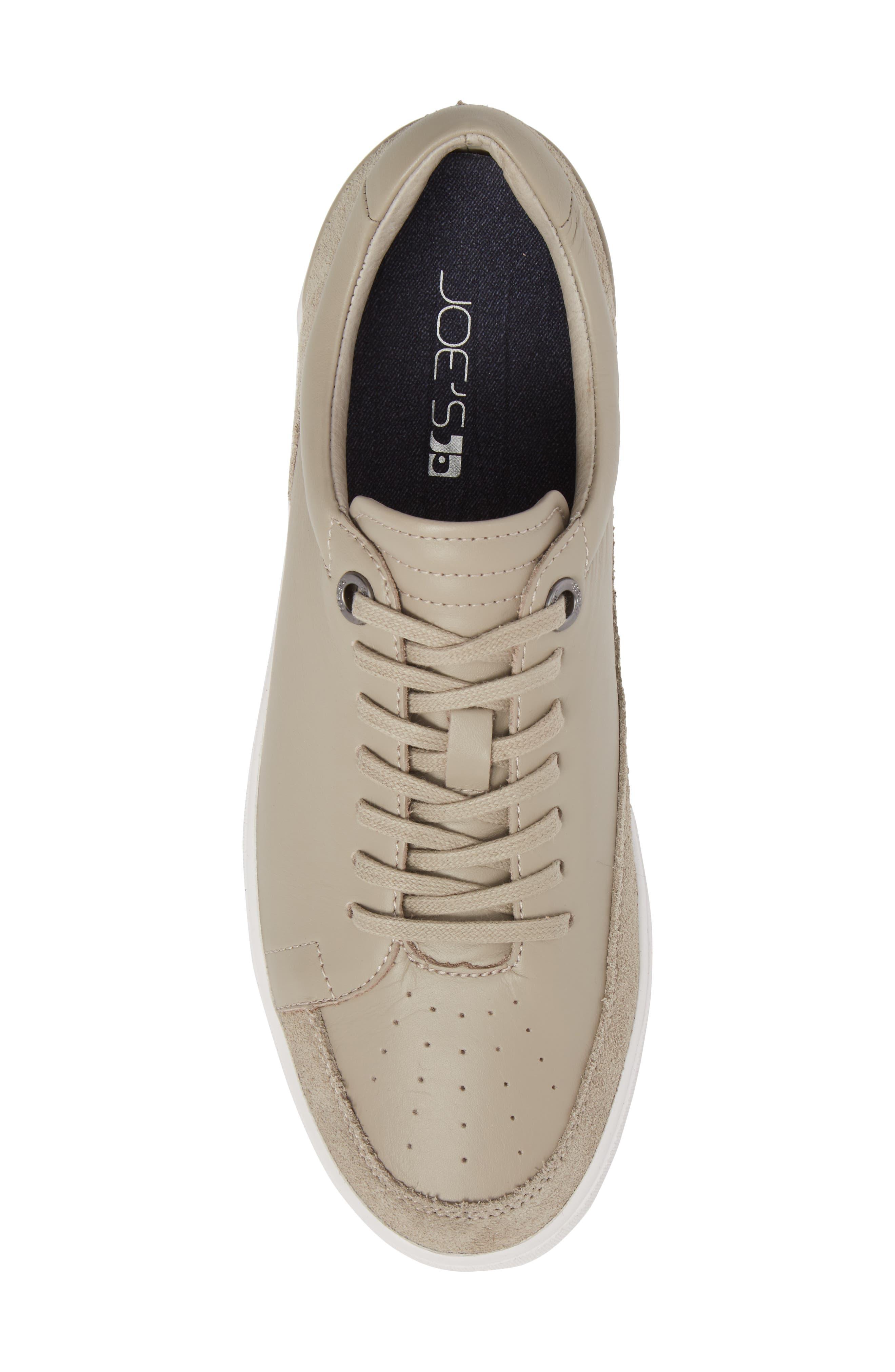 Joe Classic Low Top Sneaker,                             Alternate thumbnail 5, color,                             Stone Leather