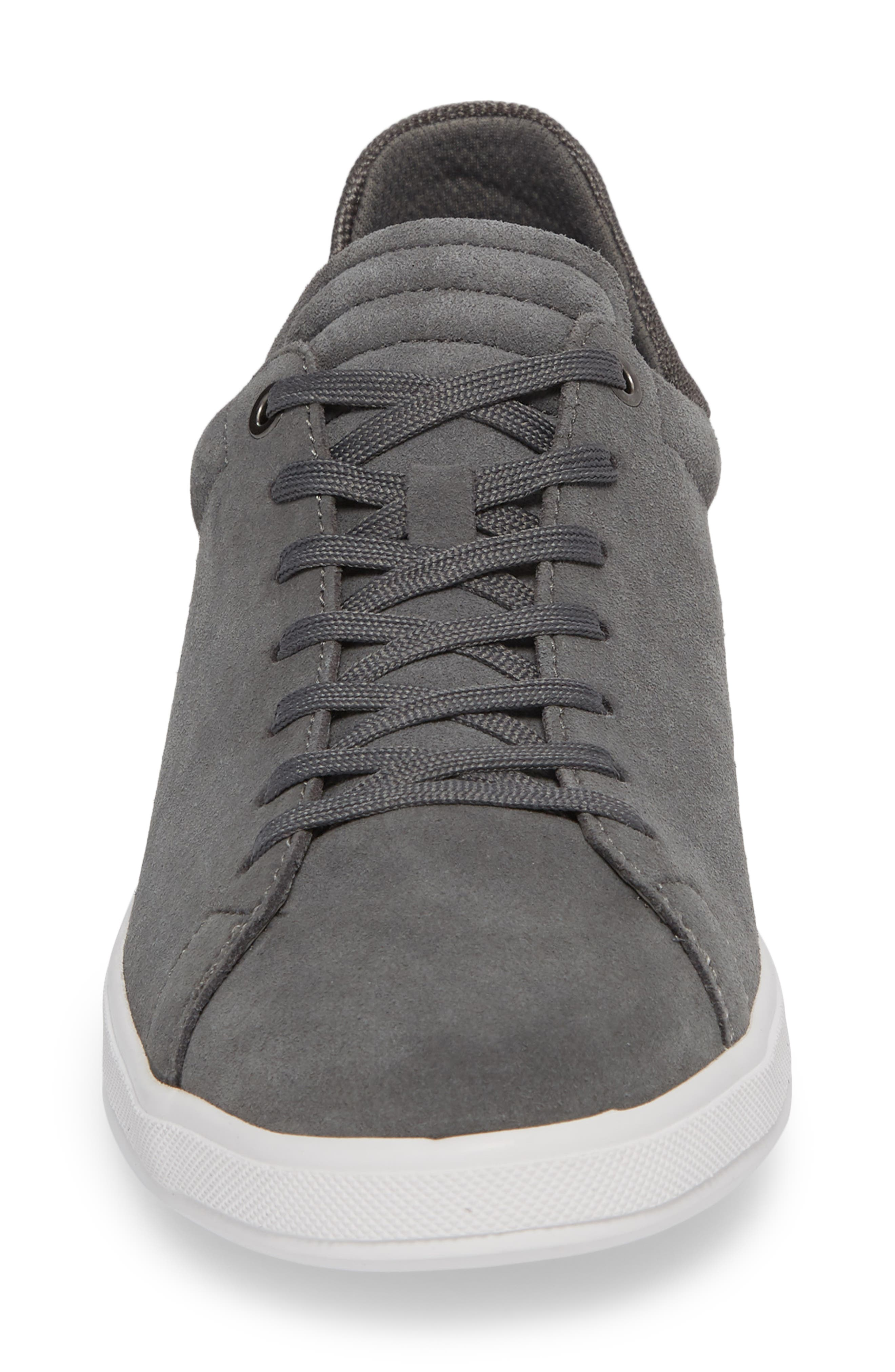 Joe Mama Low Top Sneaker,                             Alternate thumbnail 4, color,                             Grey Suede