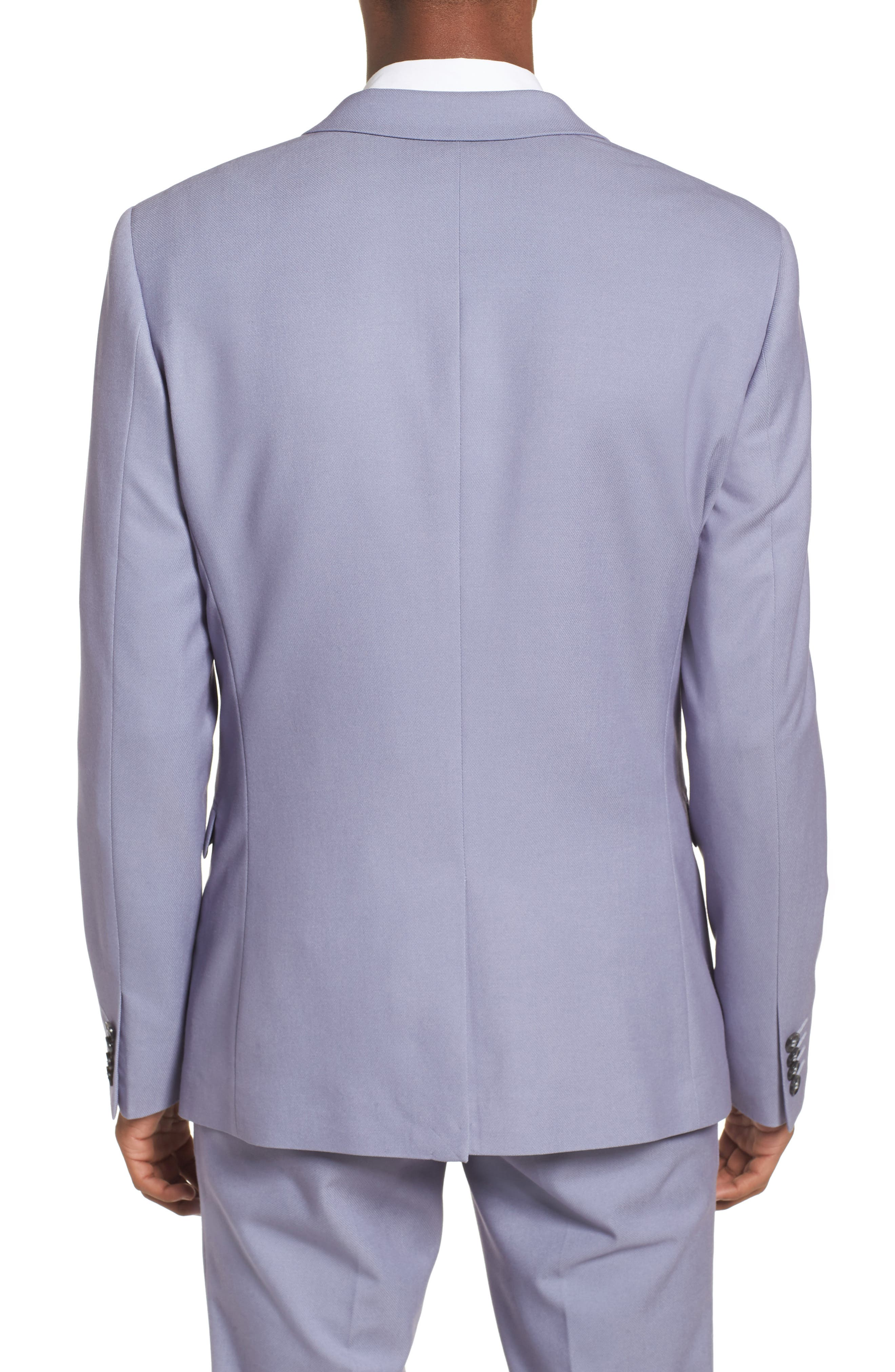 Skinny Fit Suit Jacket,                             Alternate thumbnail 2, color,                             Purple