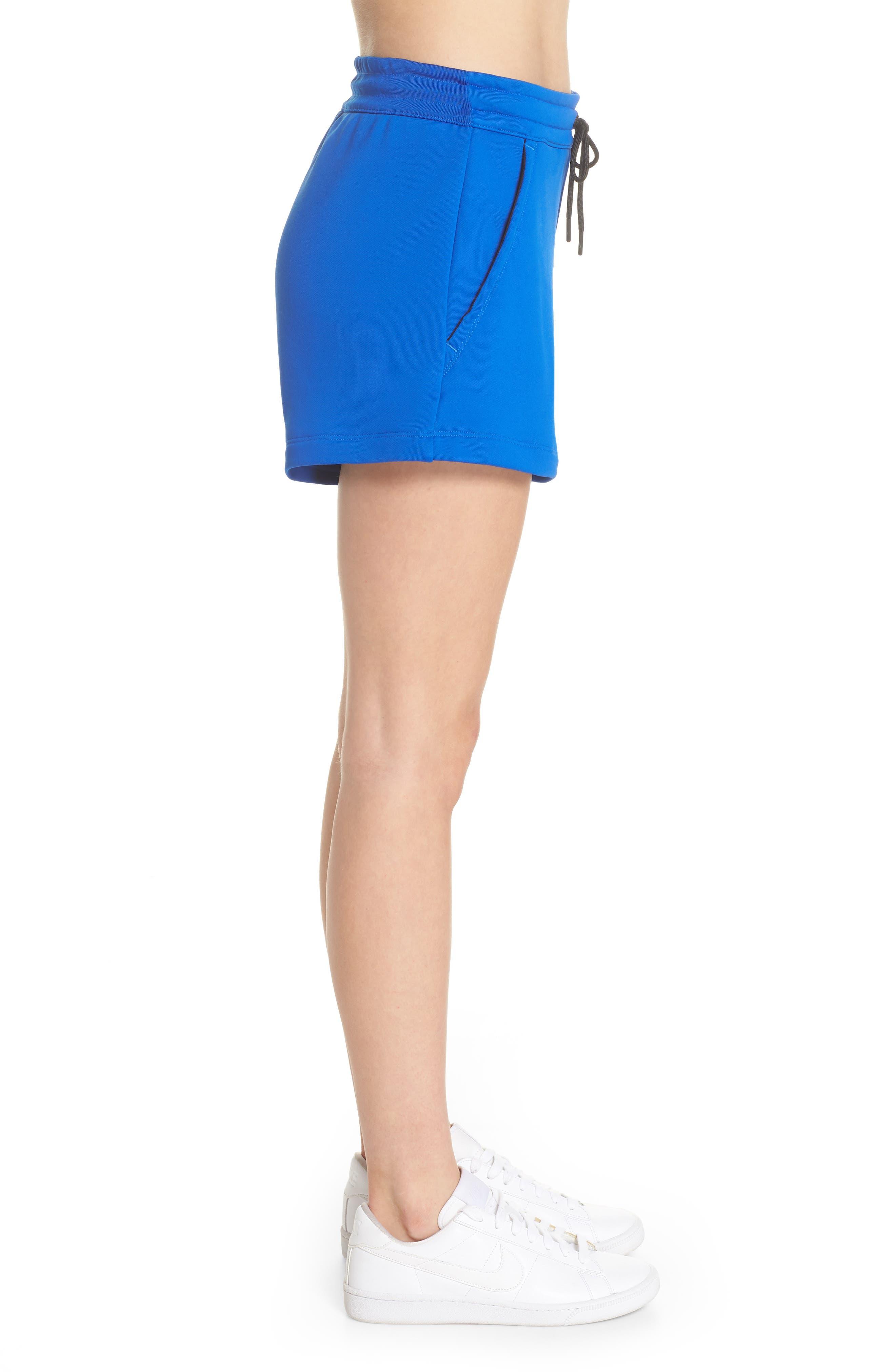 NikeLab Collection Women's Fleece Shorts,                             Alternate thumbnail 3, color,                             Hyper Cobalt/ Black