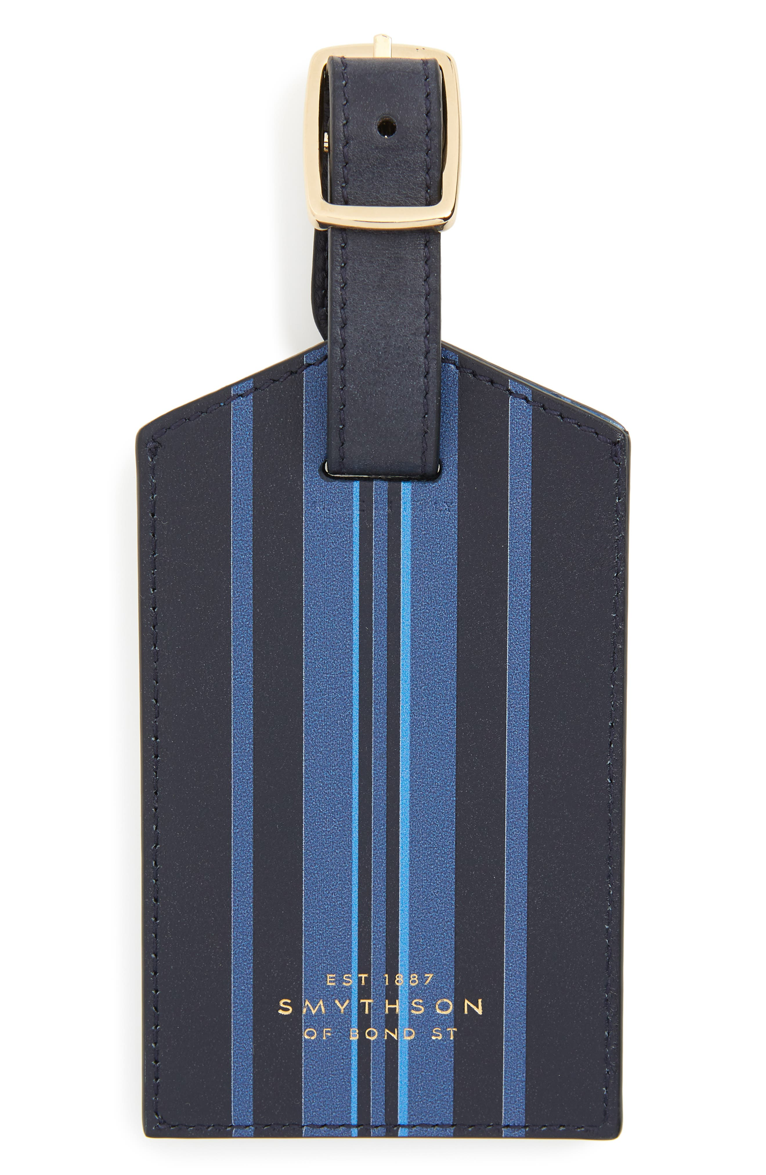 Hero Leather Luggage Tag,                             Main thumbnail 1, color,                             Navy