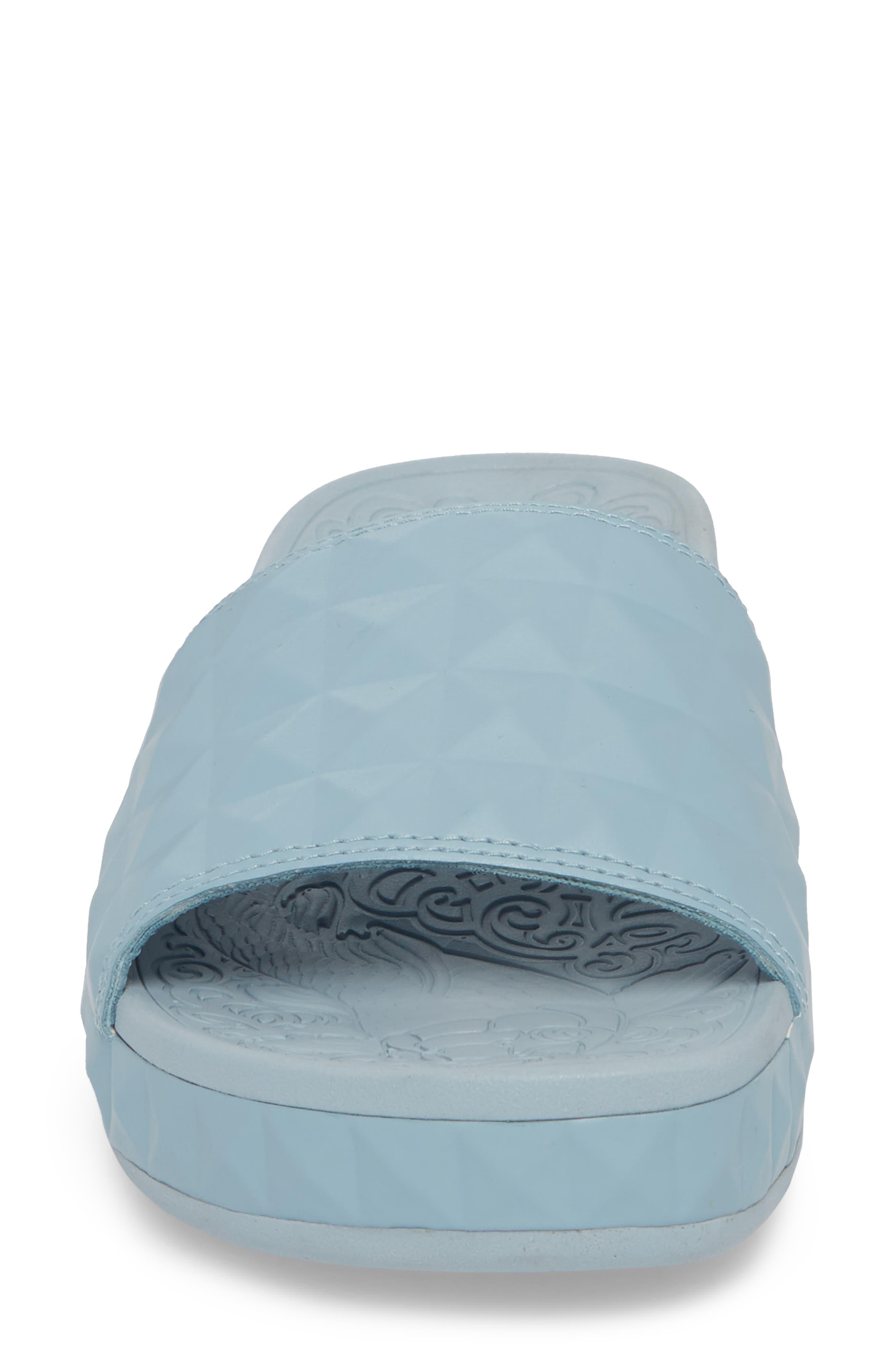 Splash Geo Slide Sandal,                             Alternate thumbnail 4, color,                             Ice Blue