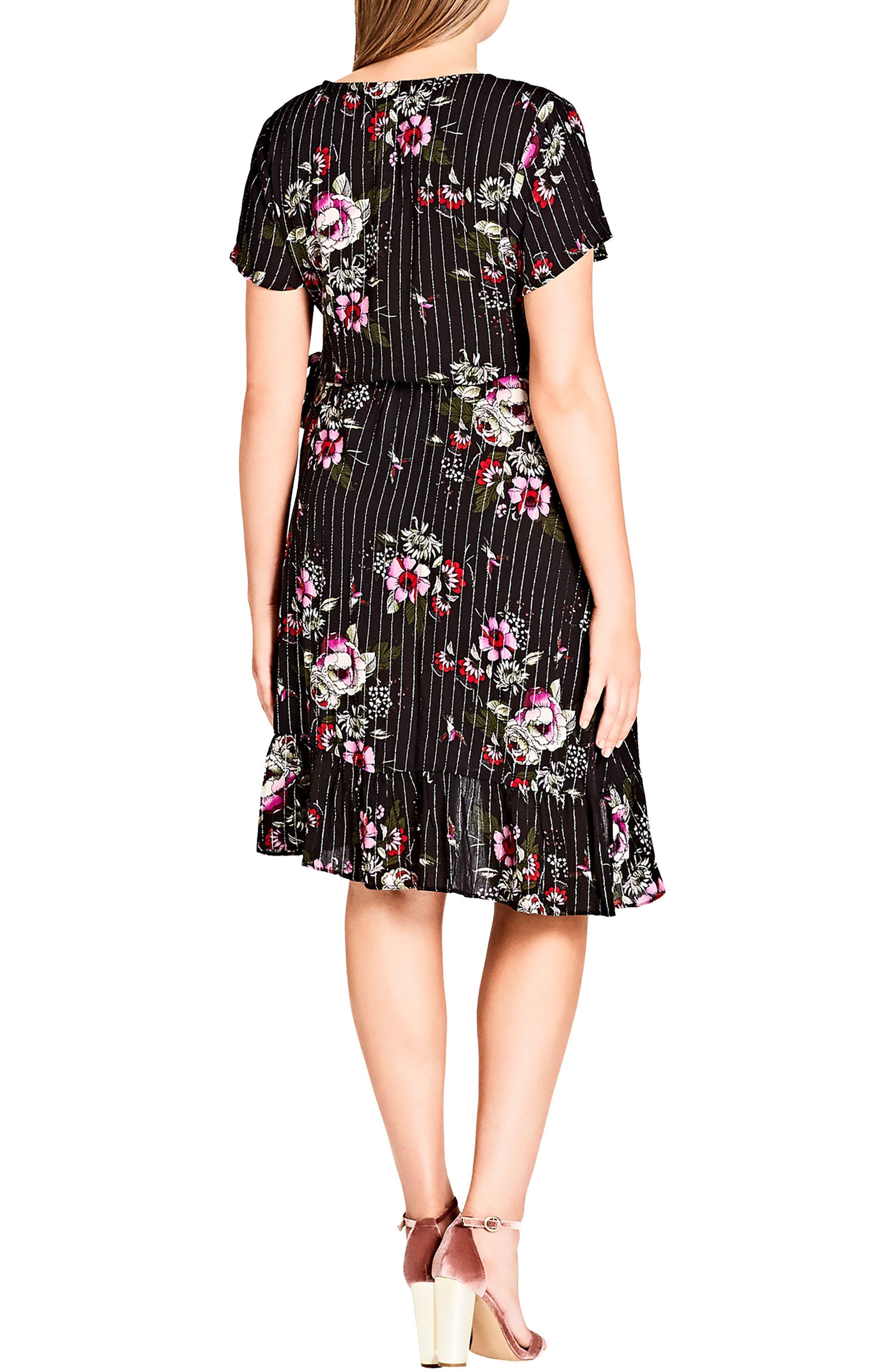 Lolita Wrap Dress,                             Alternate thumbnail 2, color,                             Black