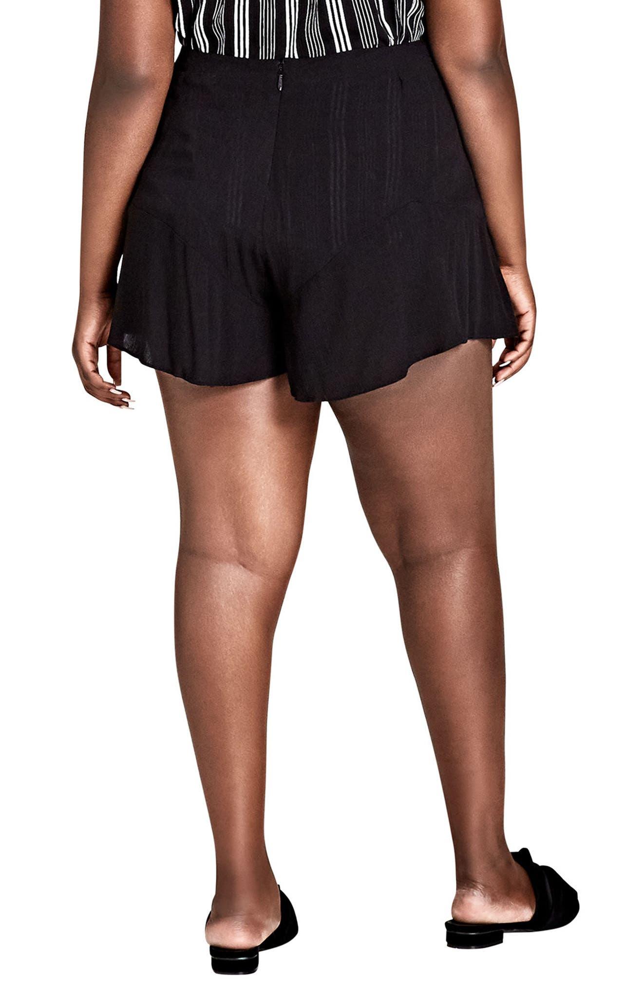 Sweet Frill Shorts,                             Alternate thumbnail 2, color,                             Black
