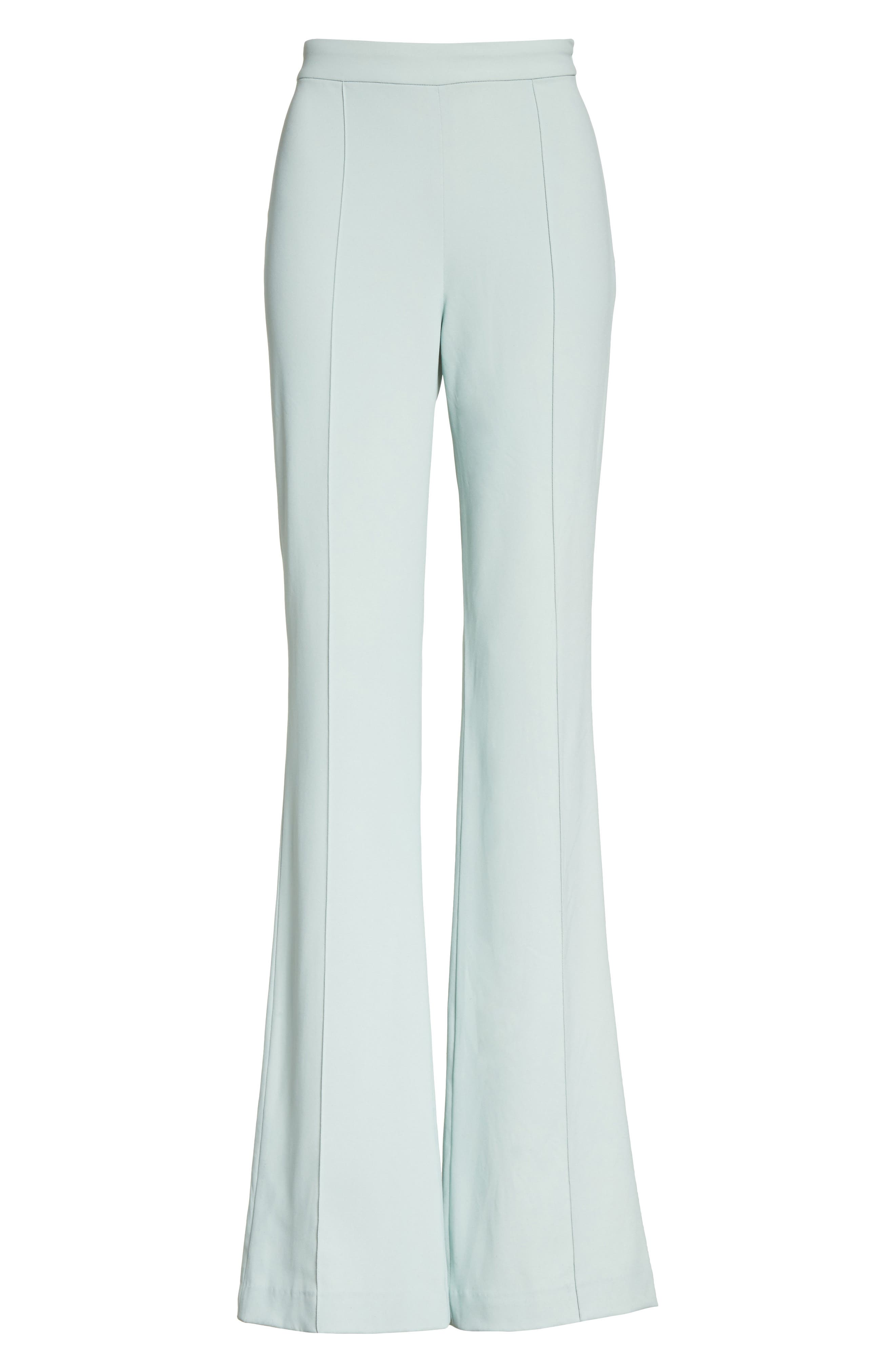 Jalisa High Waist Flared Leg Pants,                             Alternate thumbnail 6, color,                             Light Dusty Aqua
