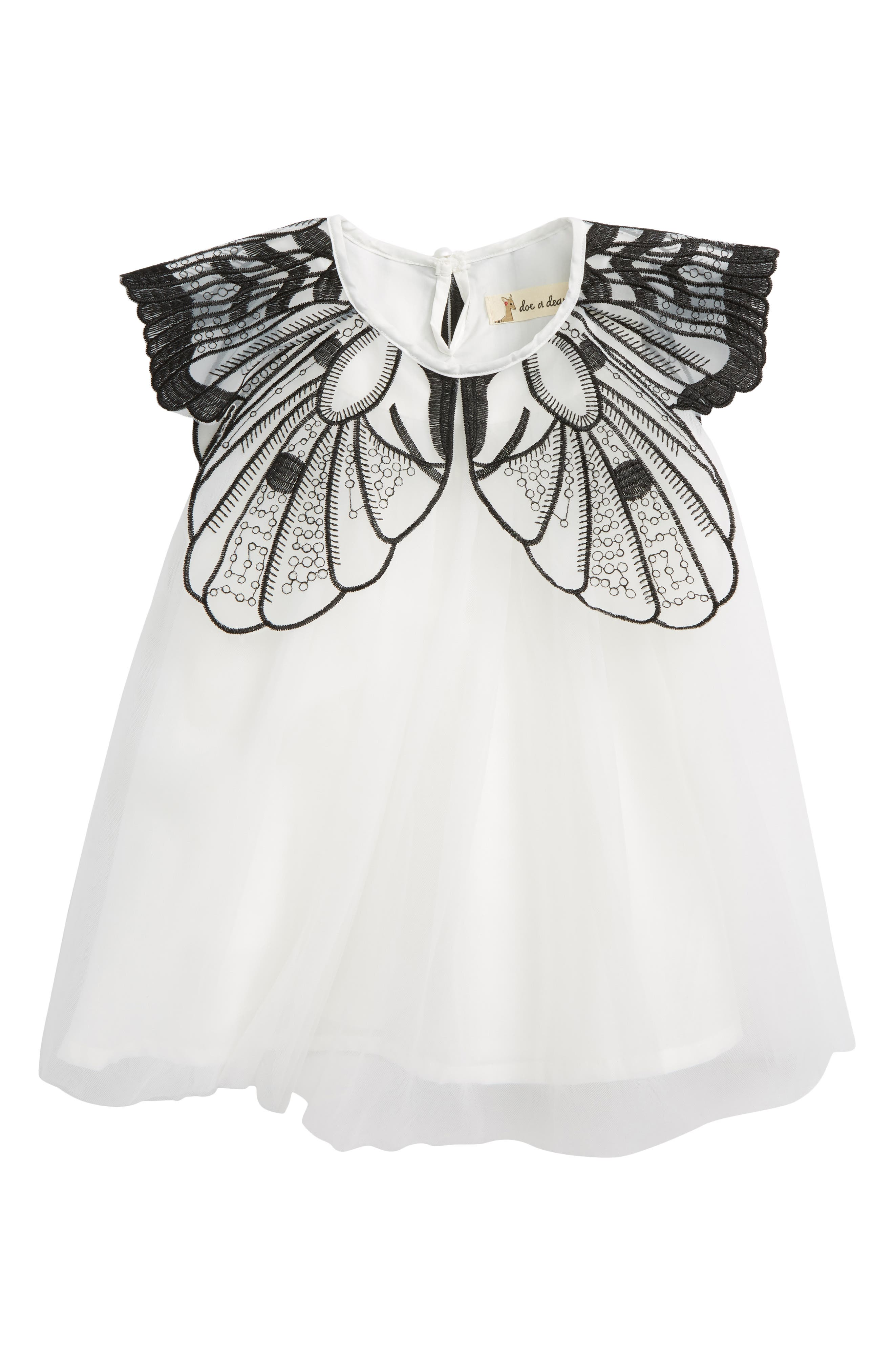 Butterfly Dress,                         Main,                         color, White