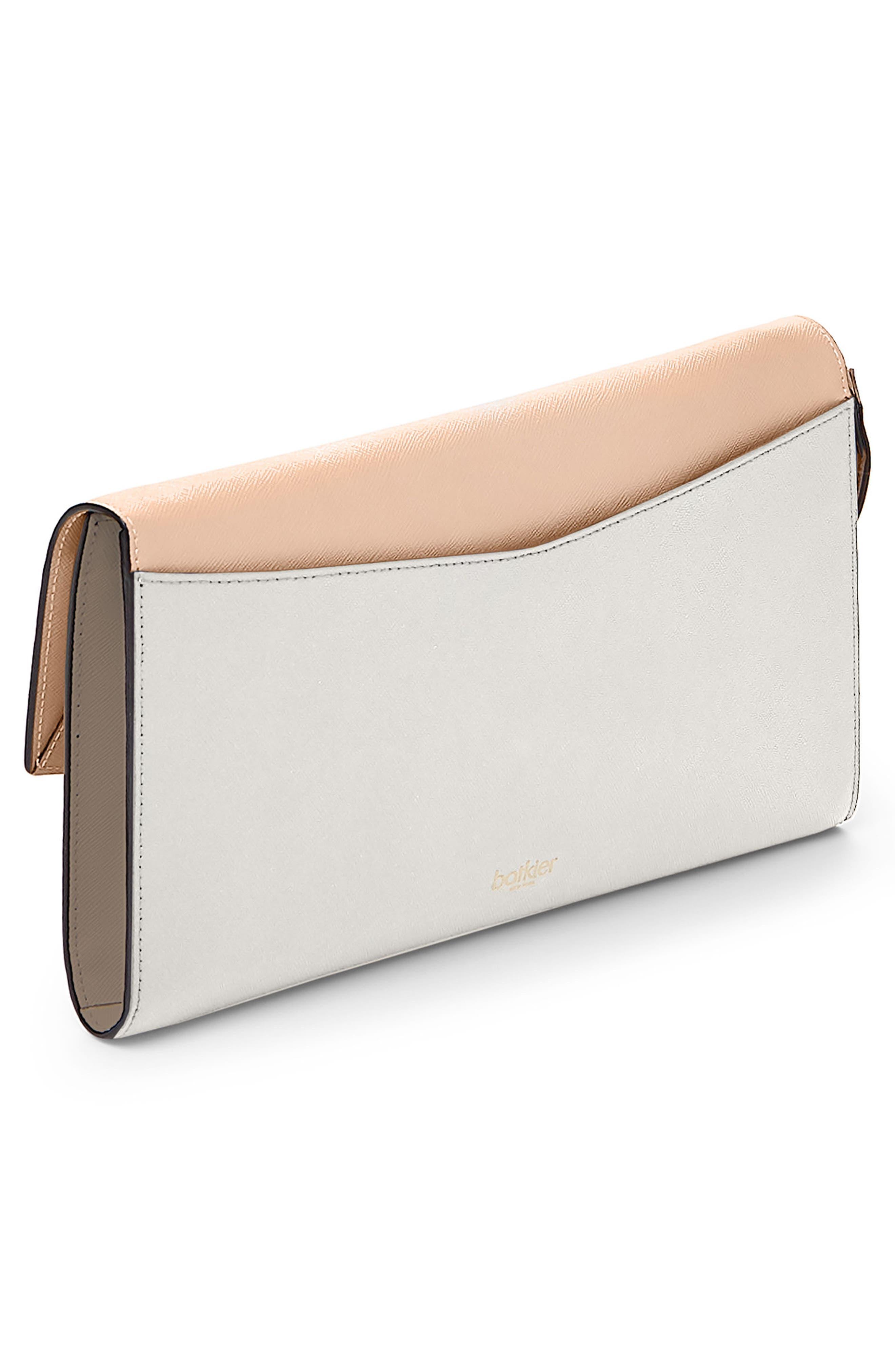 Cobble Hill Leather Wallet,                             Alternate thumbnail 3, color,                             Peach Colorblock