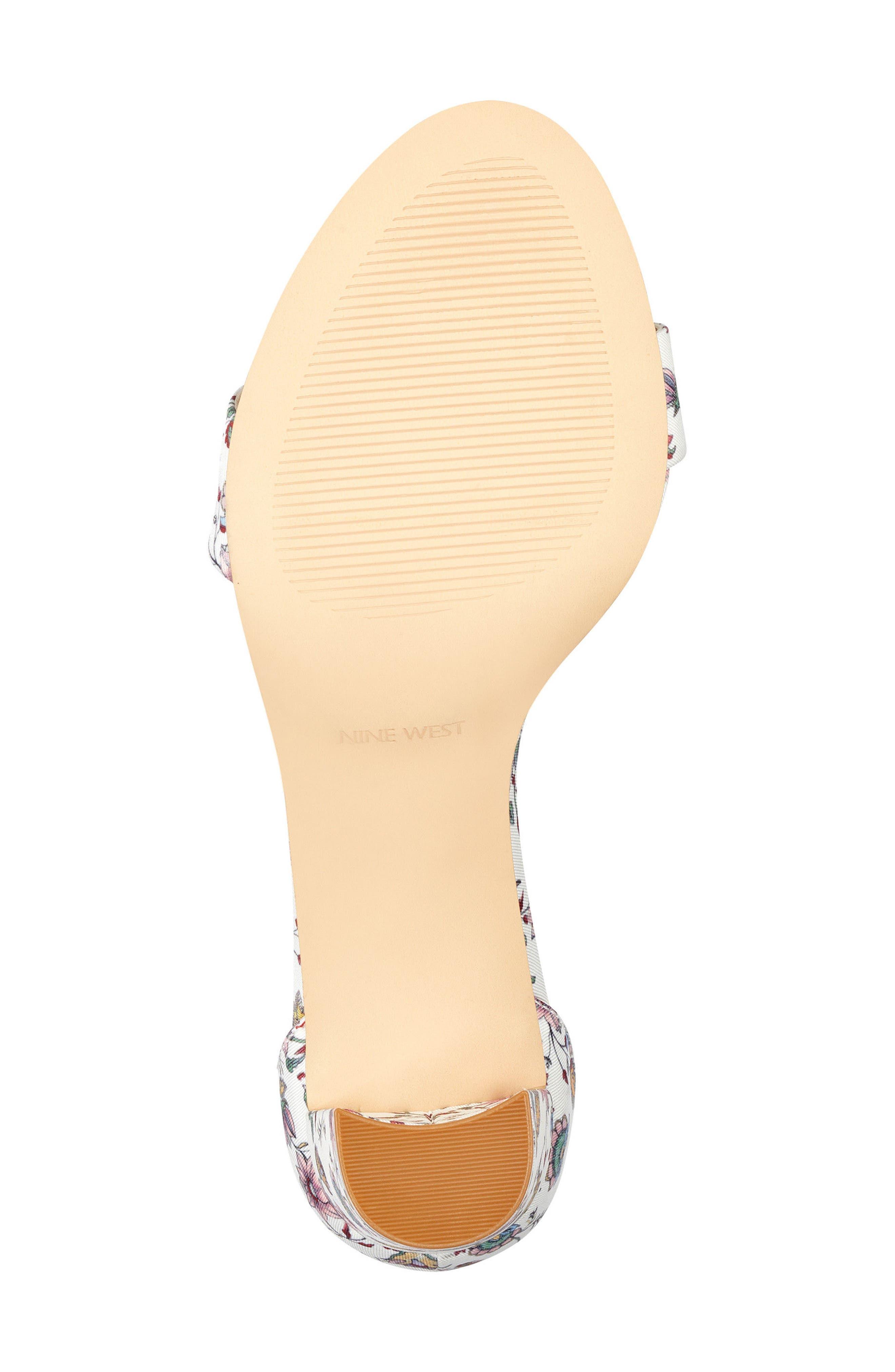 Pruce Ankle Strap Sandal,                             Alternate thumbnail 6, color,                             White Multi