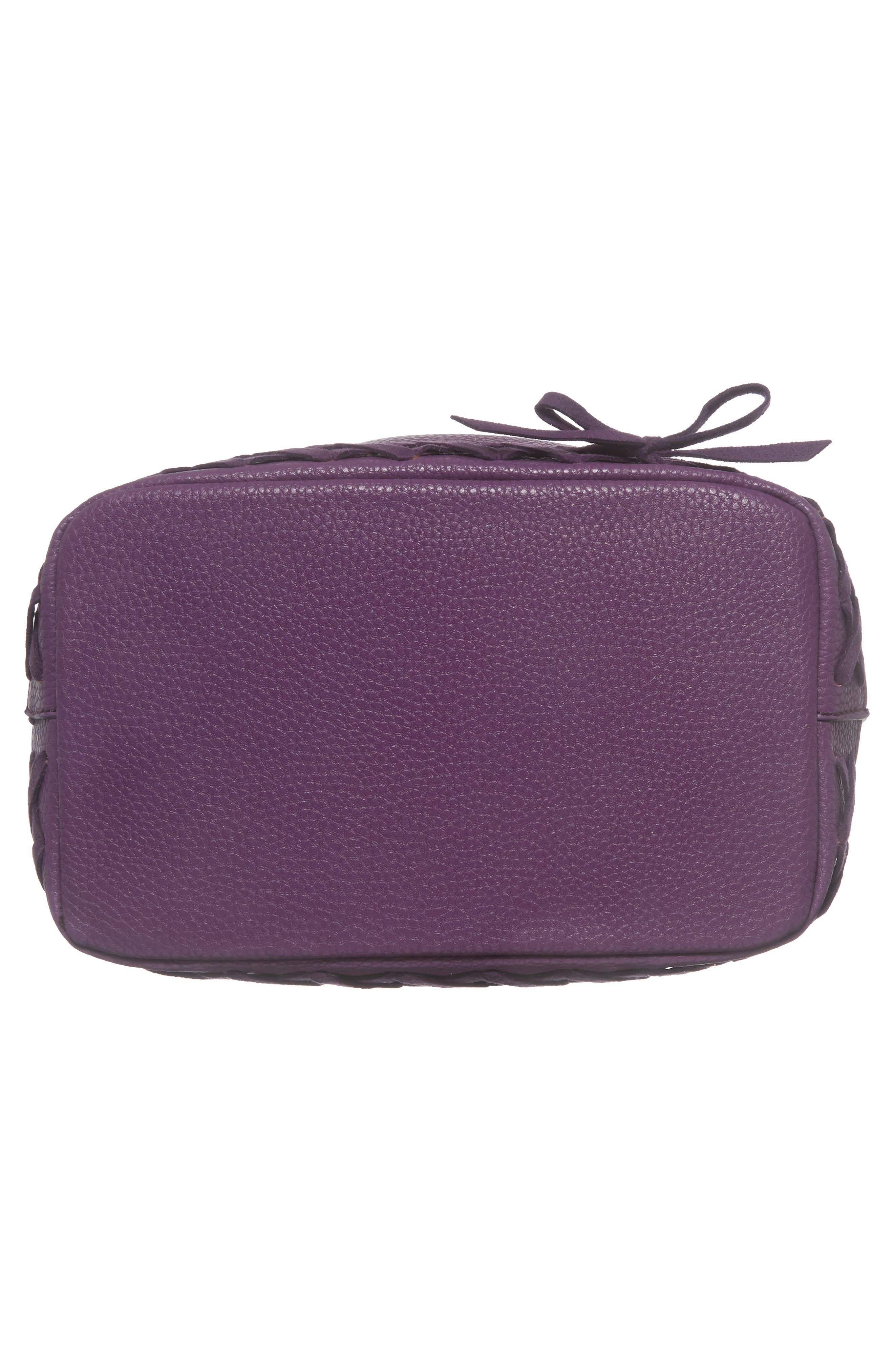 Veronica Faux Leather Bucket Bag,                             Alternate thumbnail 6, color,                             Purple