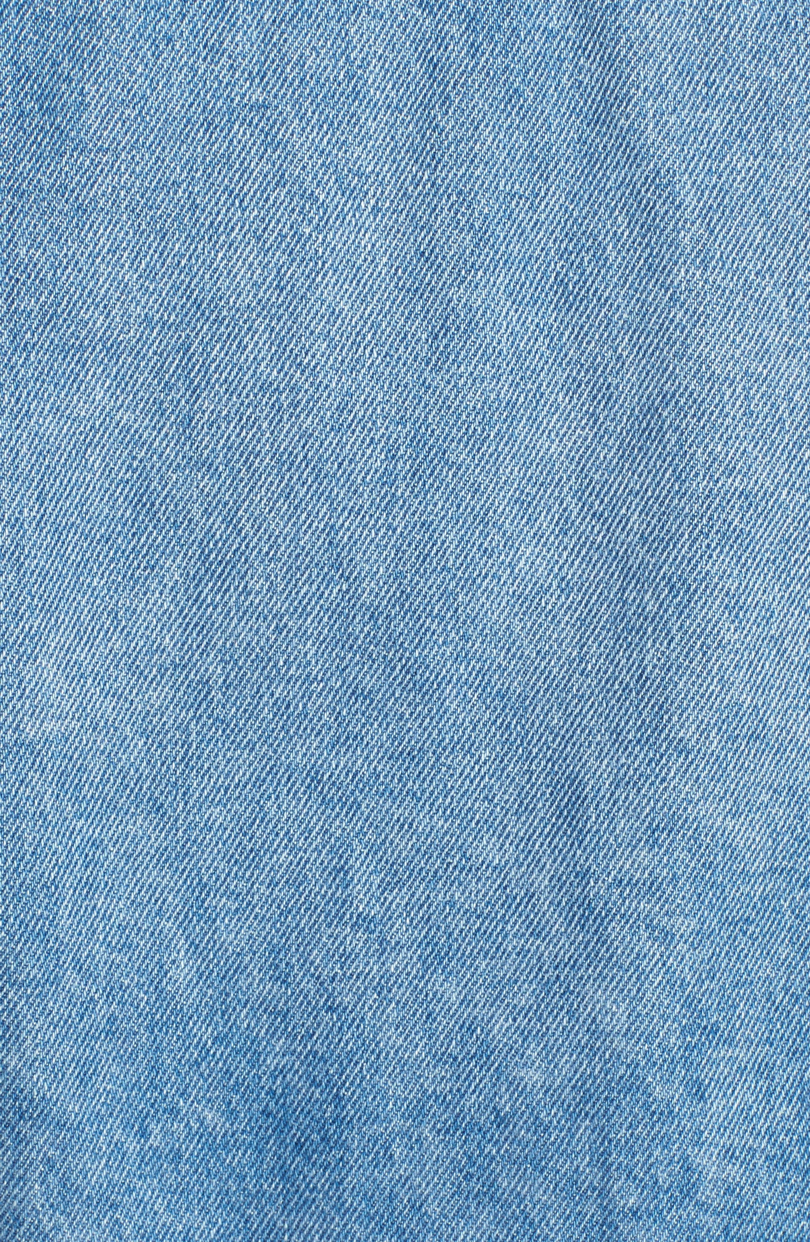 Denim Trucker Jacket,                             Alternate thumbnail 6, color,                             Tommy Jeans Light Blue Rigid