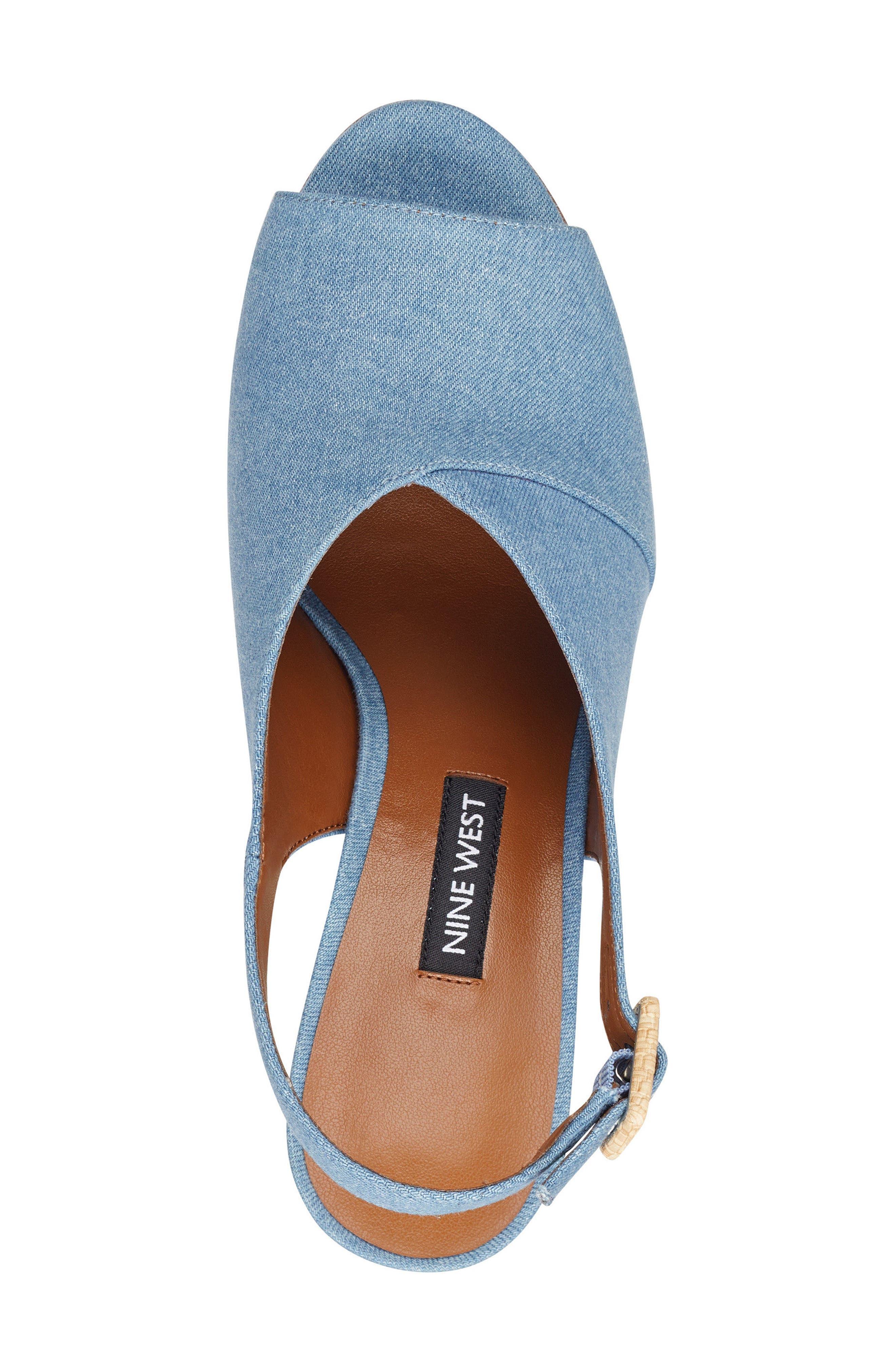 Morenzo Slingback Sandal,                             Alternate thumbnail 5, color,                             Light Blue Fabric