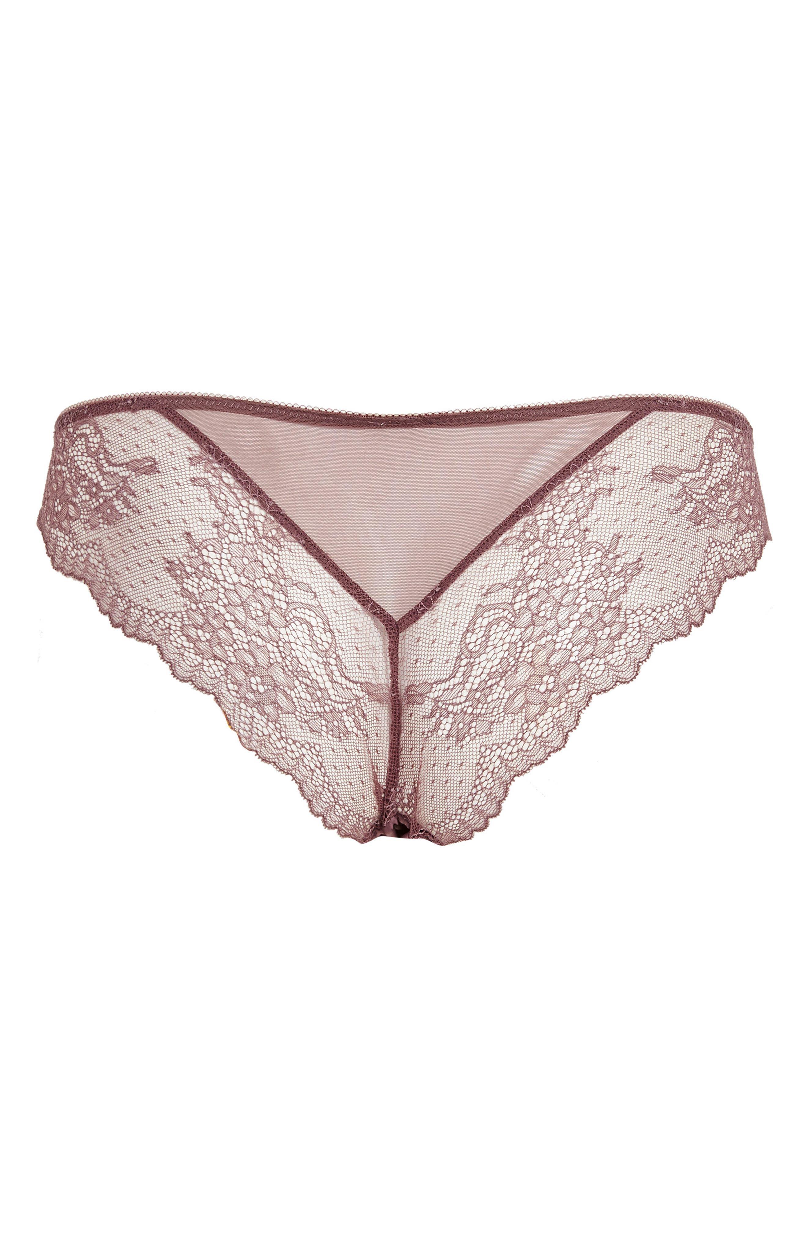 Alternate Image 3  - Topshop Raven Satin Panties