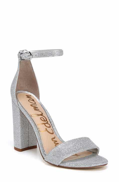 Metallic Block Heel Sandals For Women Nordstrom